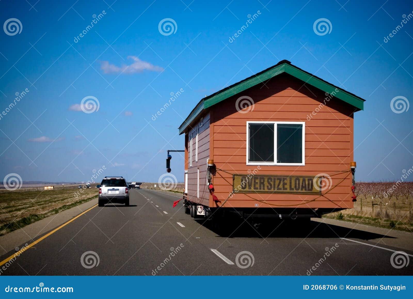 maison mobile photo stock image du lignes autoroute 2068706. Black Bedroom Furniture Sets. Home Design Ideas