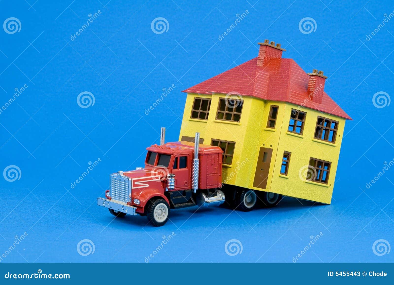 Maison mobile version bleue photos stock image 5455443 - Maison bleue mobel ...