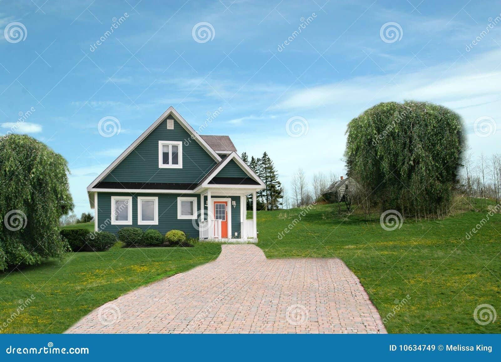 maison moderne dans la campagne images libres de droits image 10634749. Black Bedroom Furniture Sets. Home Design Ideas