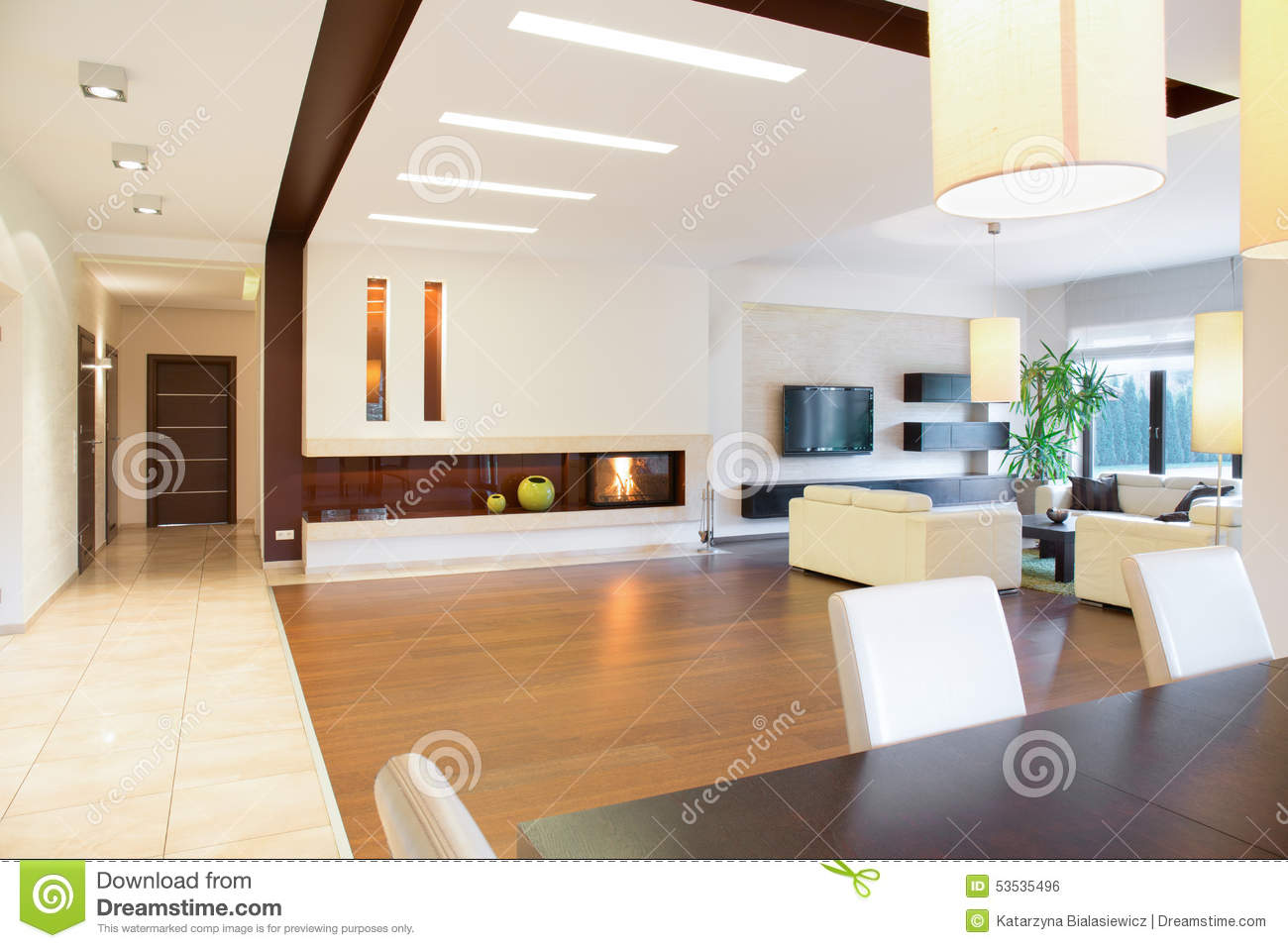Maison moderne de parter photo stock   image: 53535496