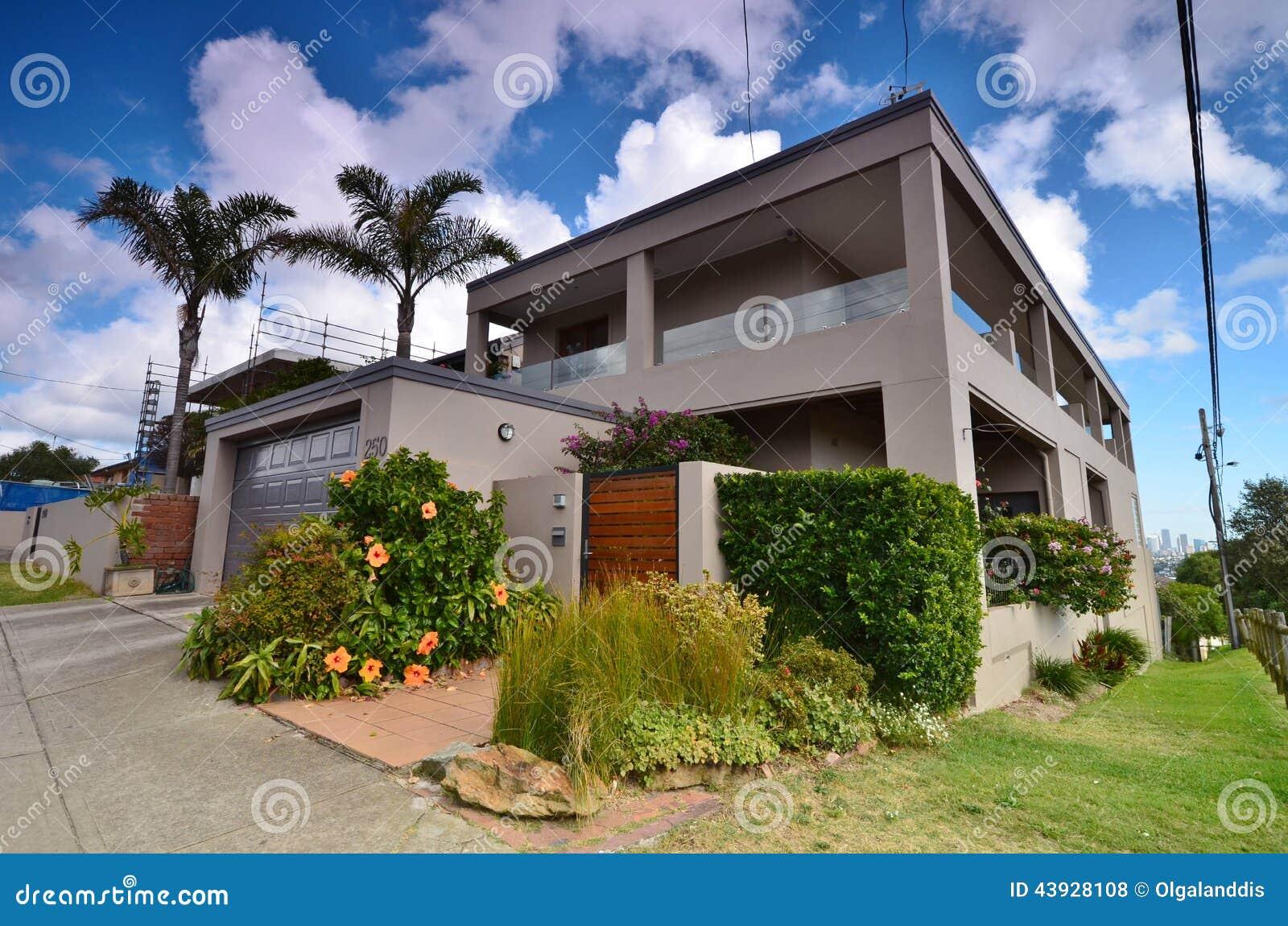 Maison Moderne En Région De Rose Bay Street Sydney Horizontal De Ville