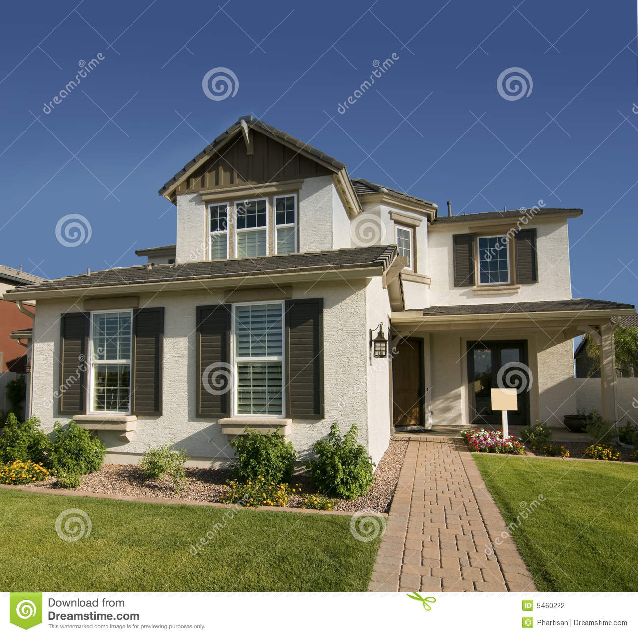 Maison moderne neuve photo stock image du home vente for Maison moderne home sweet home