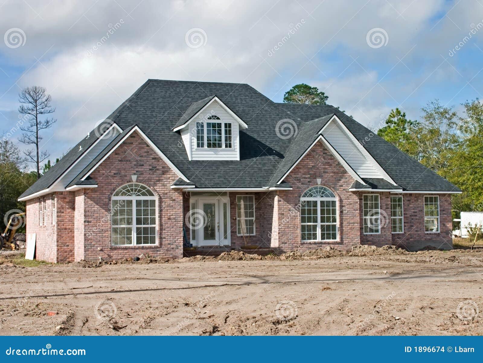 Maison neuve 2 de brique images stock image 1896674 for Construction maison brique