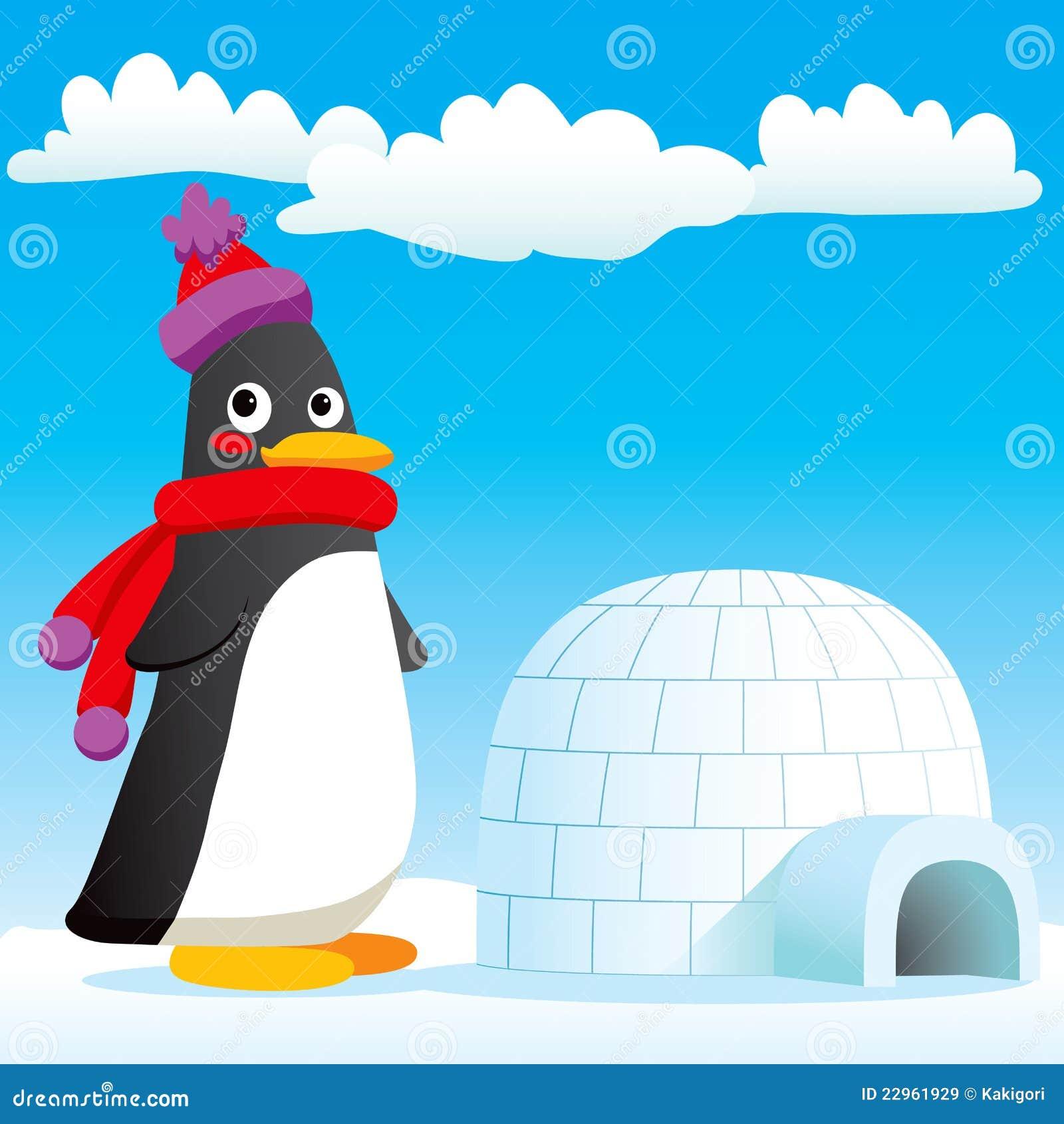 maison neuve de pingouin illustration de vecteur image du. Black Bedroom Furniture Sets. Home Design Ideas