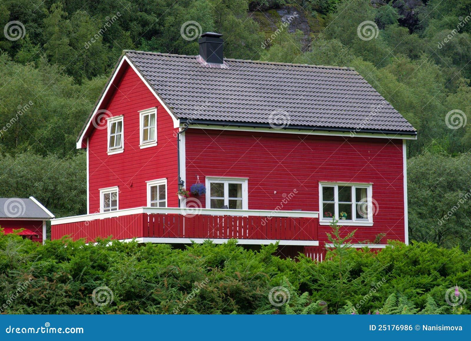 Maison norv gienne type photo stock image du sc ne ferme for Type maison