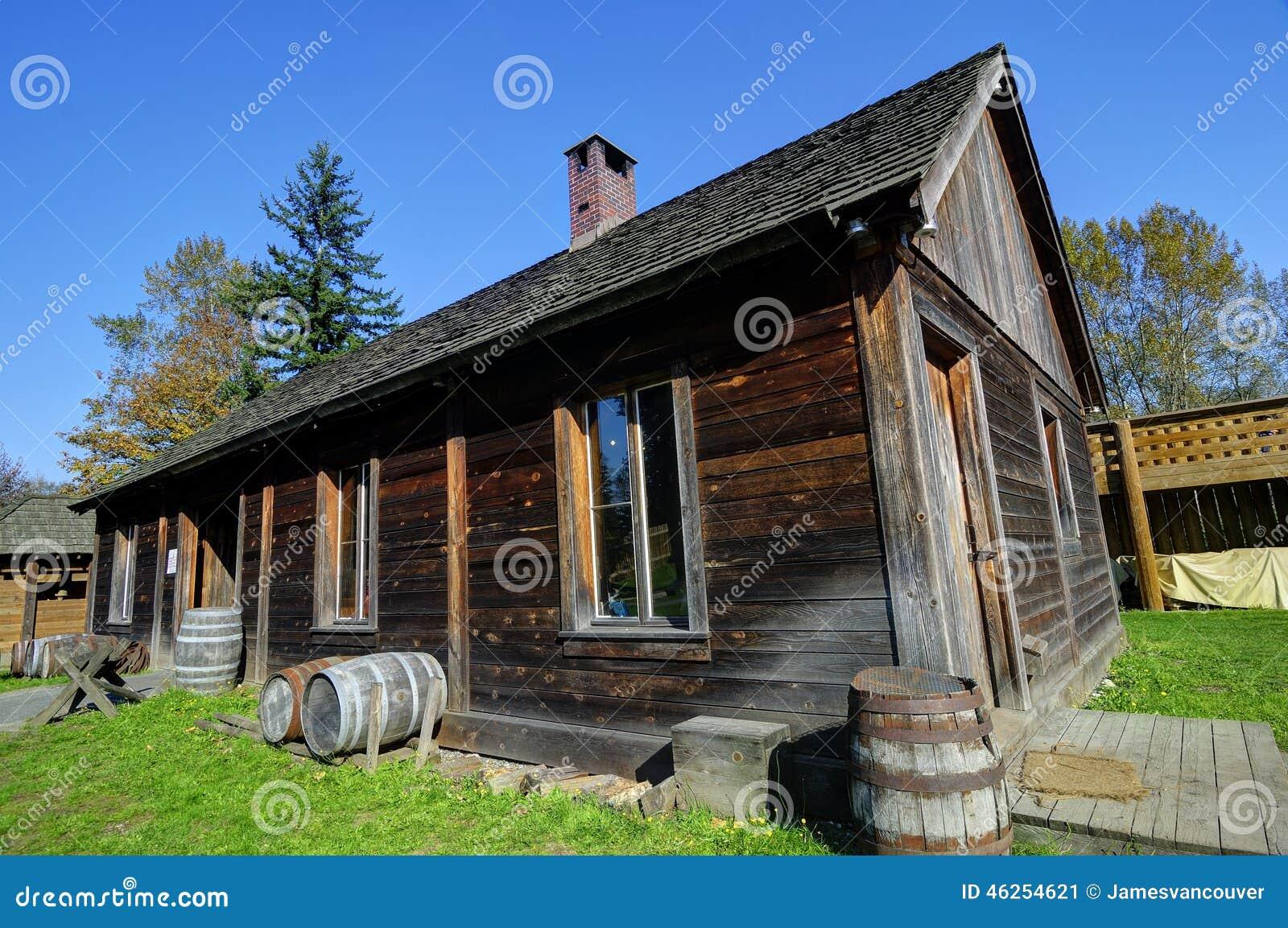 Maison Rurale Canadienne Traditionnelle De Vieilles