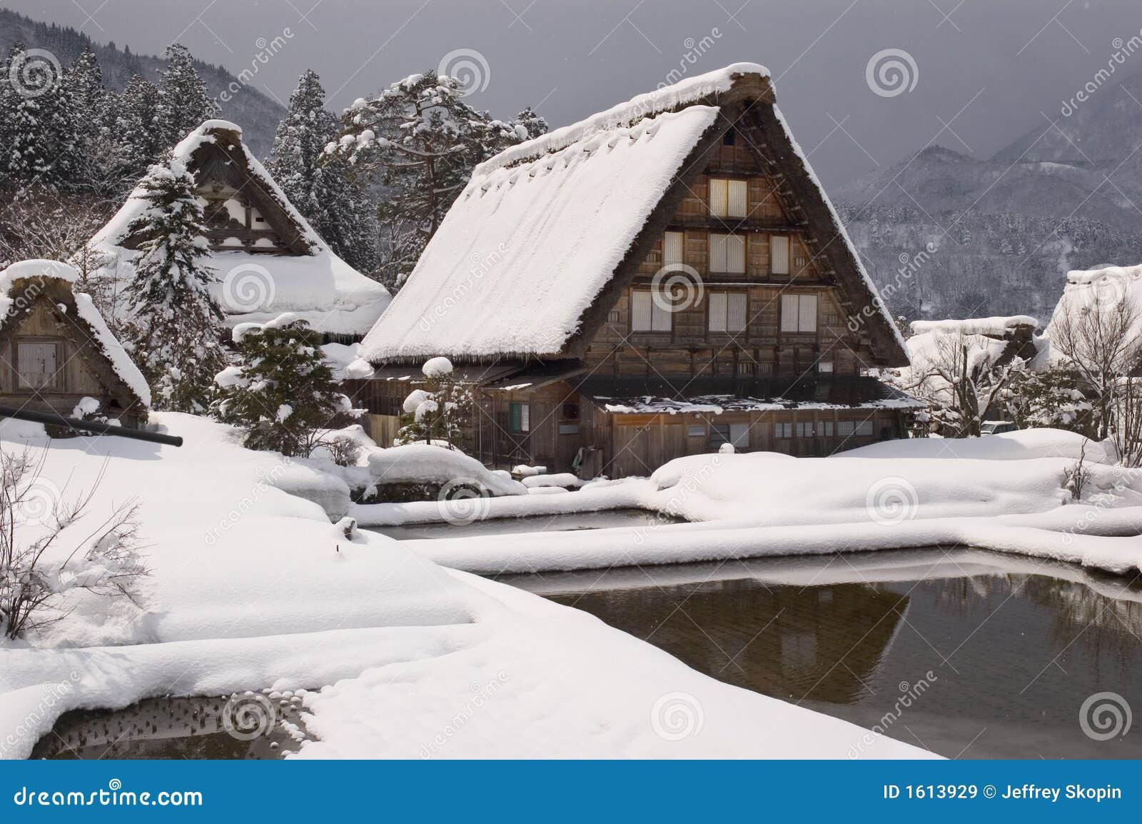 maison rurale du japon images libres de droits image 1613929. Black Bedroom Furniture Sets. Home Design Ideas