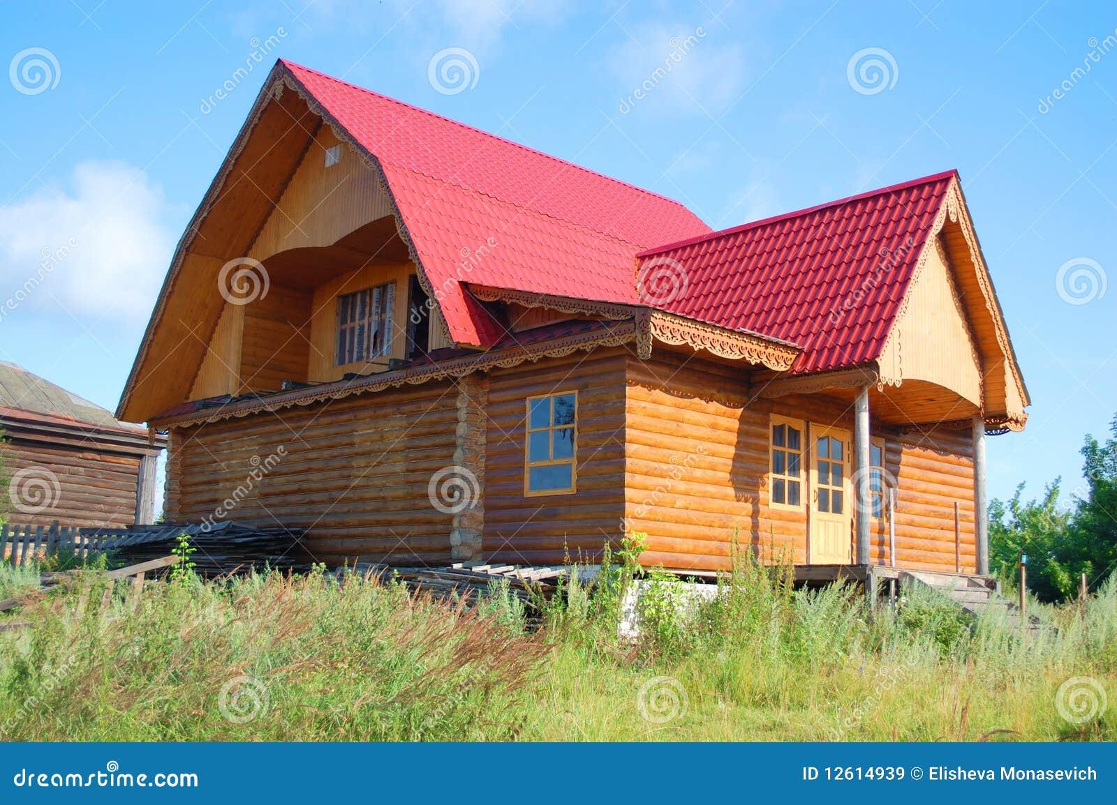 maison rurale russe traditionnelle images libres de droits image 12614939. Black Bedroom Furniture Sets. Home Design Ideas