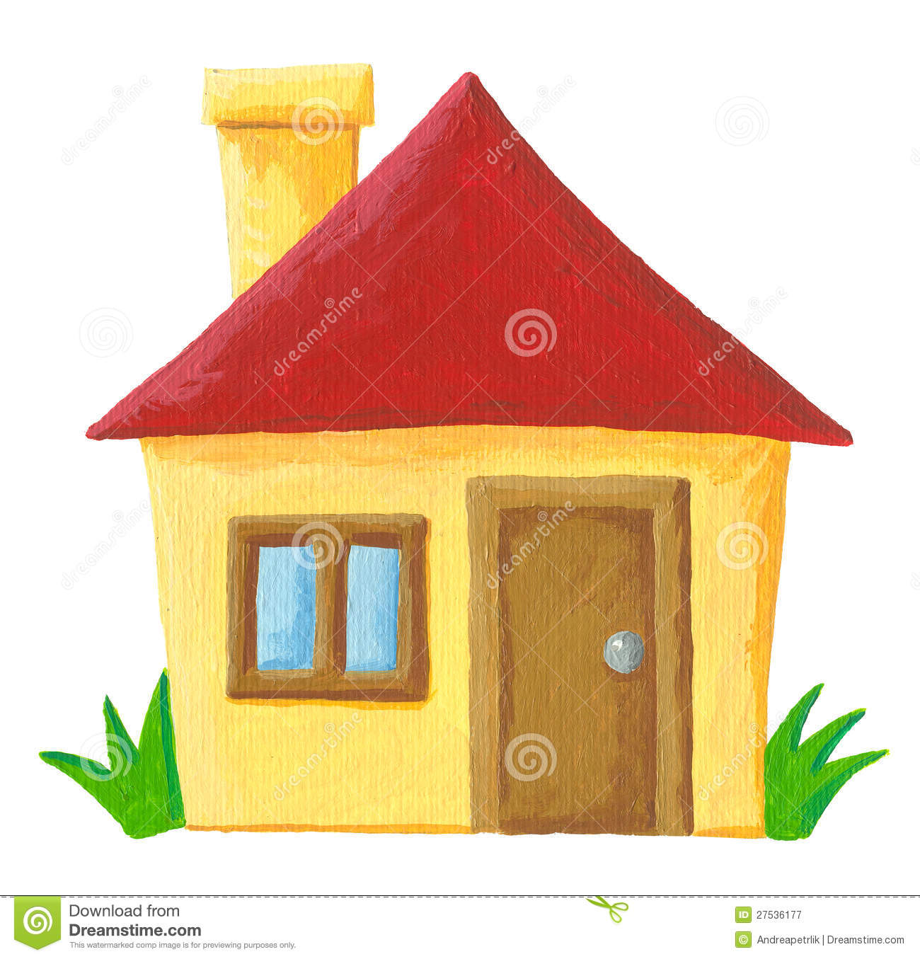 Maison simple illustration stock illustration du ext rieur 27536177 - Toit de maison dessin ...