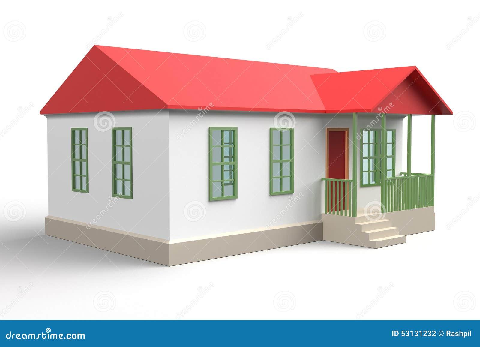 La maison simple 3d de style rendent