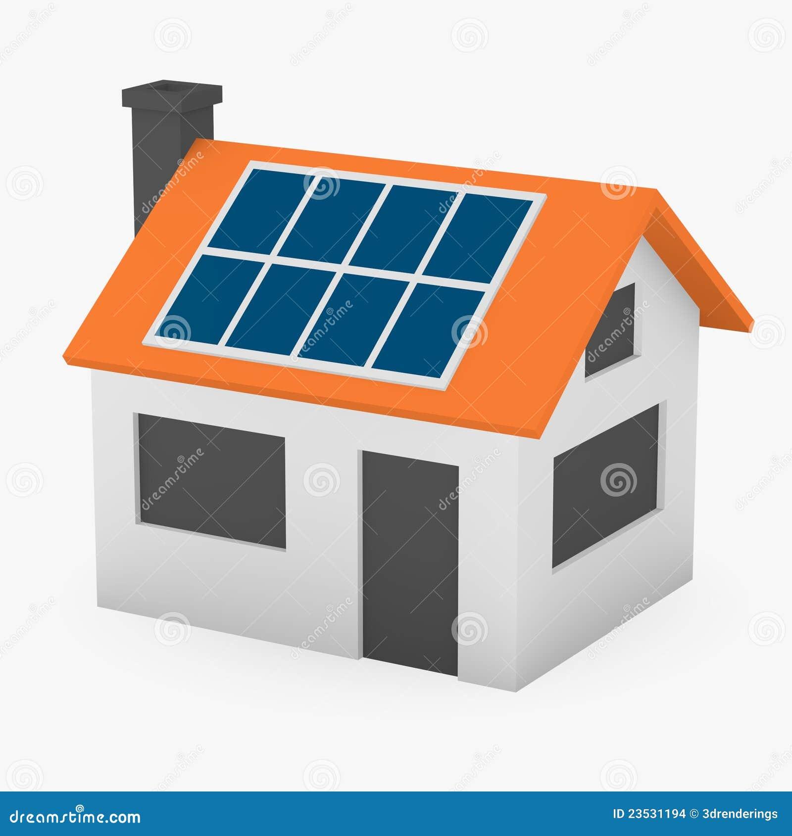 maison solaire pouvoir s r images stock image 23531194. Black Bedroom Furniture Sets. Home Design Ideas