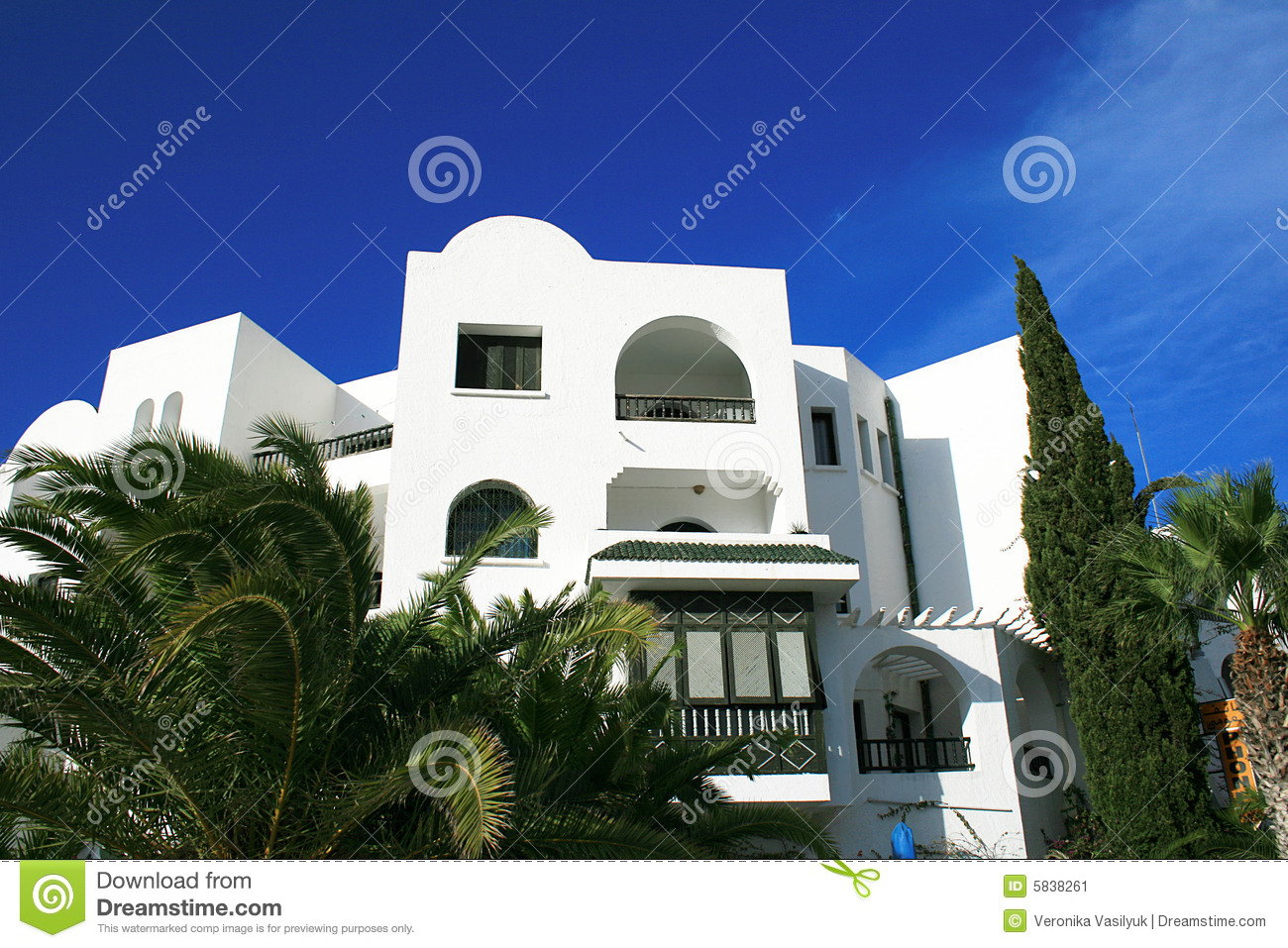 Maison traditionnelle en tunisie image stock image 5838261 for Plan maison tunisie