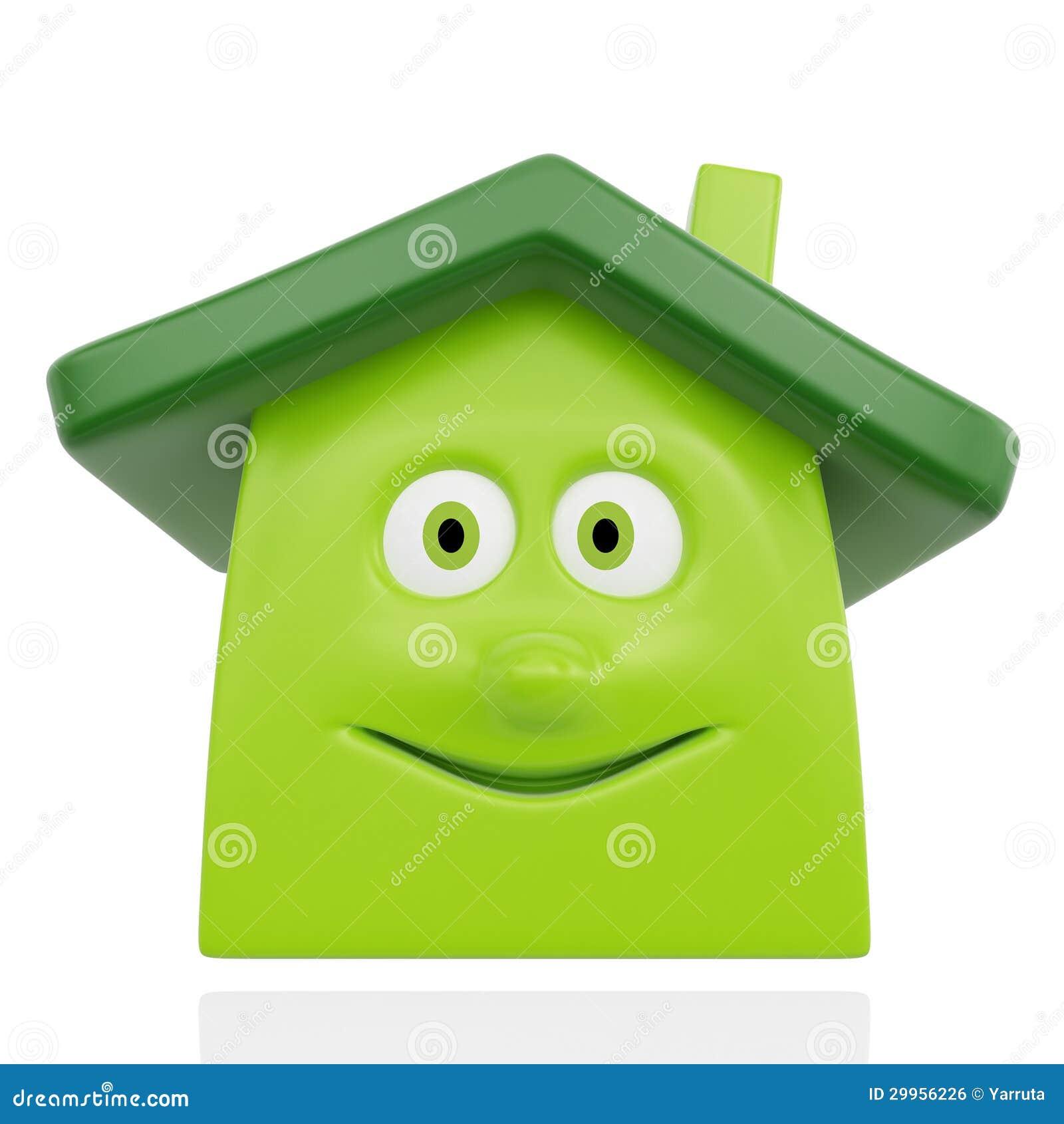 Maison verte heureuse image libre de droits image 29956226 for Maison smile
