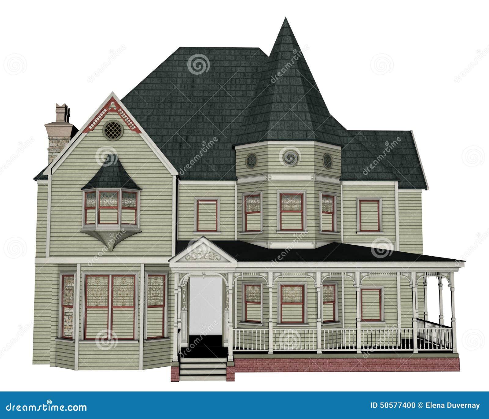 maison victorienne 3d rendent illustration stock image. Black Bedroom Furniture Sets. Home Design Ideas