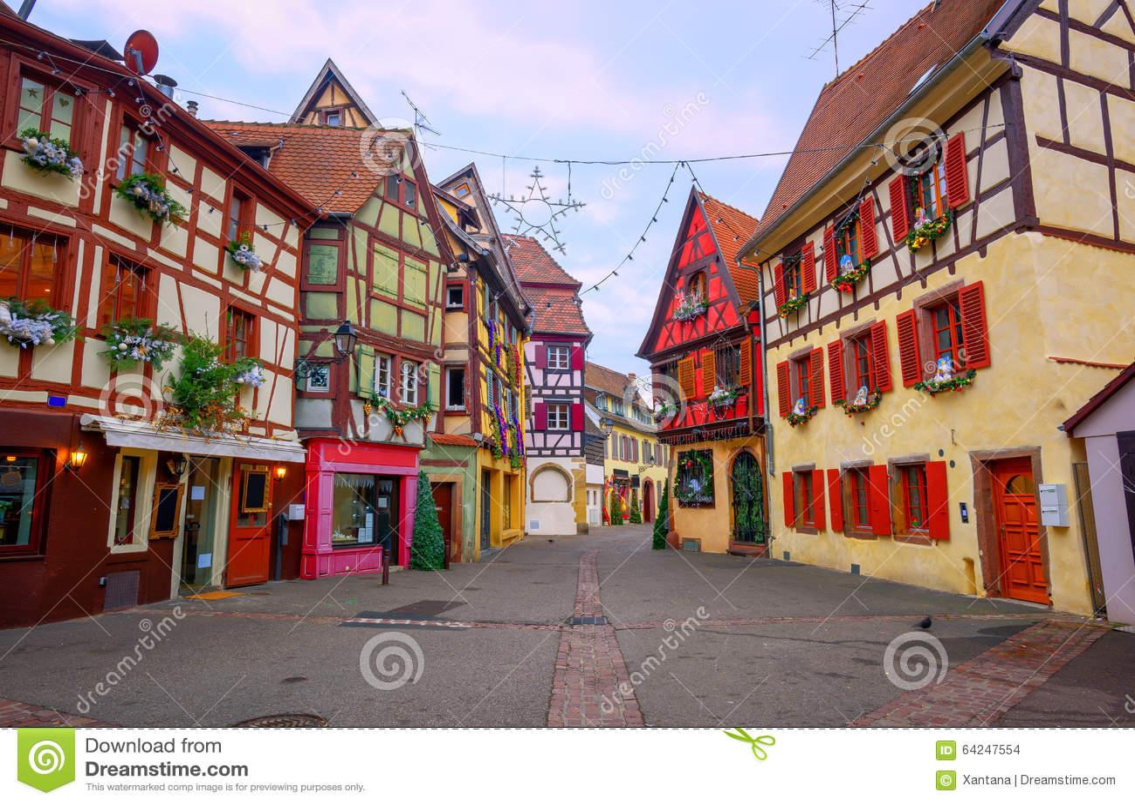 Maisons A Colombage Traditionnelles A Colmar Alsace France Photo