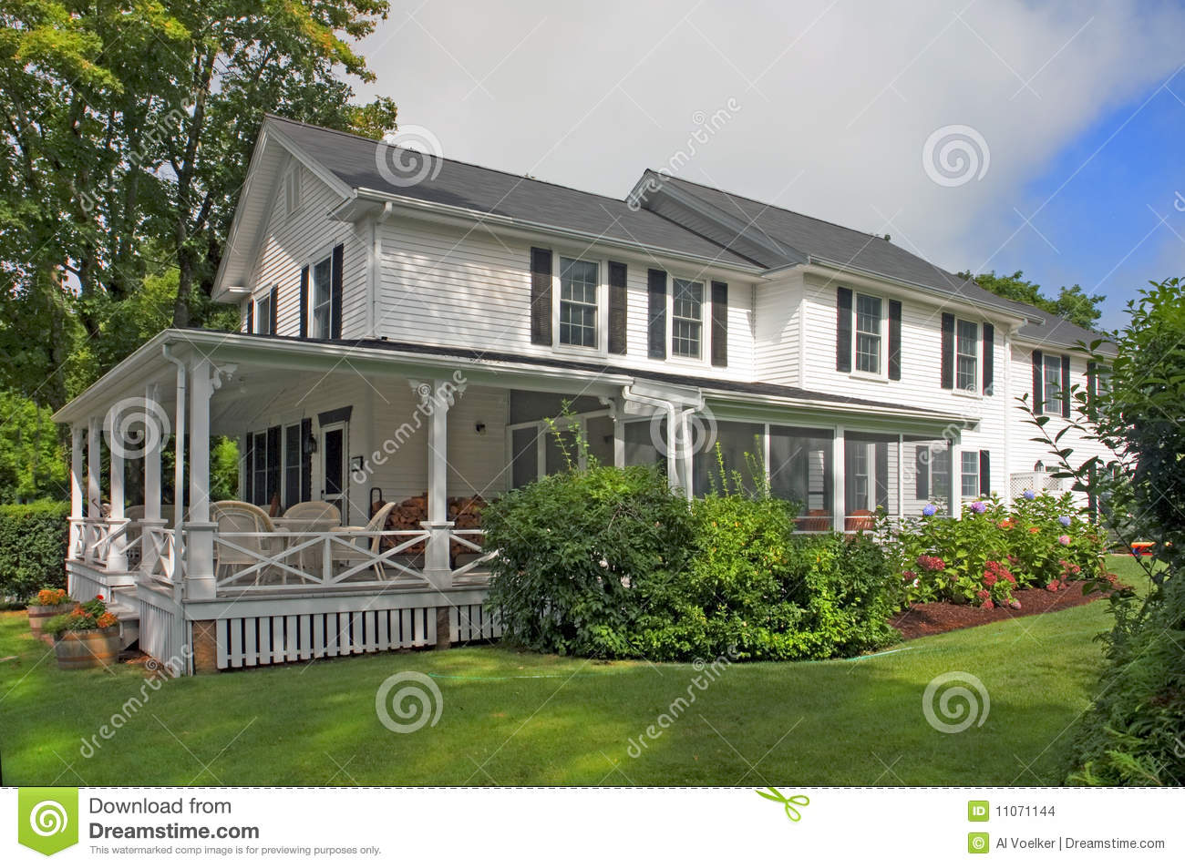 Maisons am ricaines classiques images stock image 11071144 for Achat maison usa