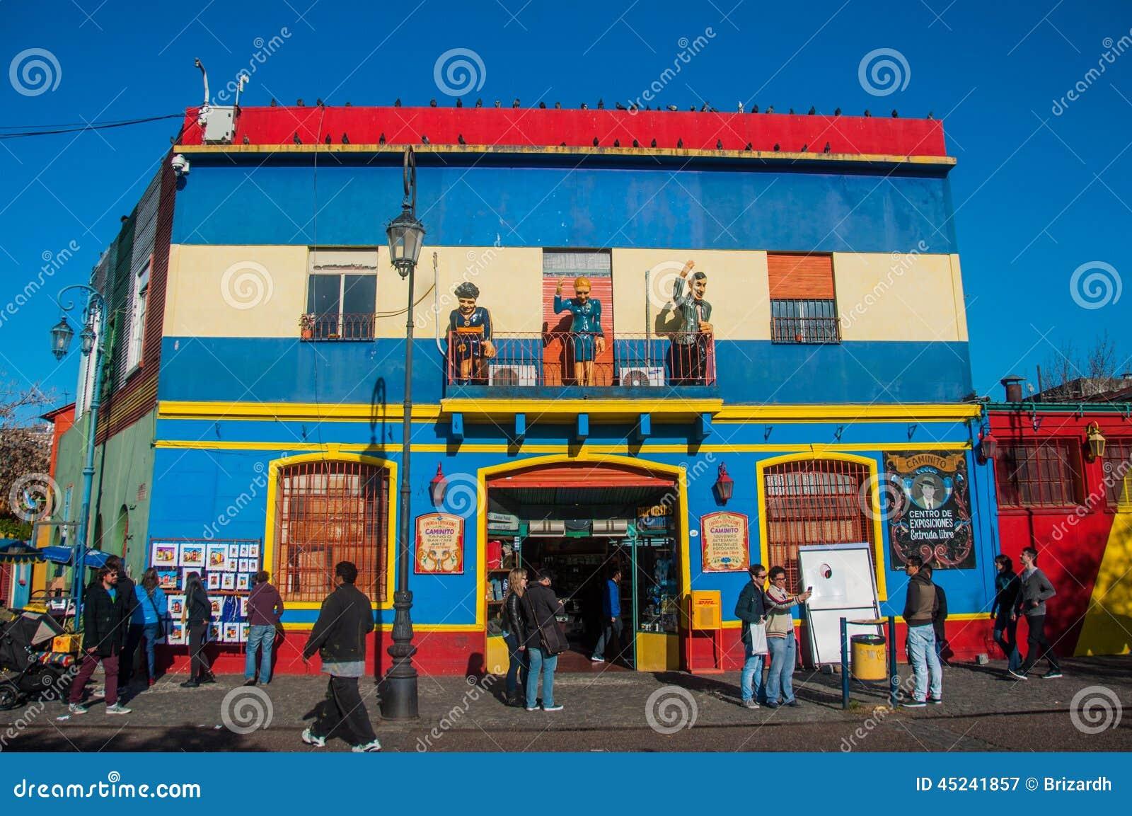 Maisons colorées voisinage, Buenos Aires, Argentine de Boca de La
