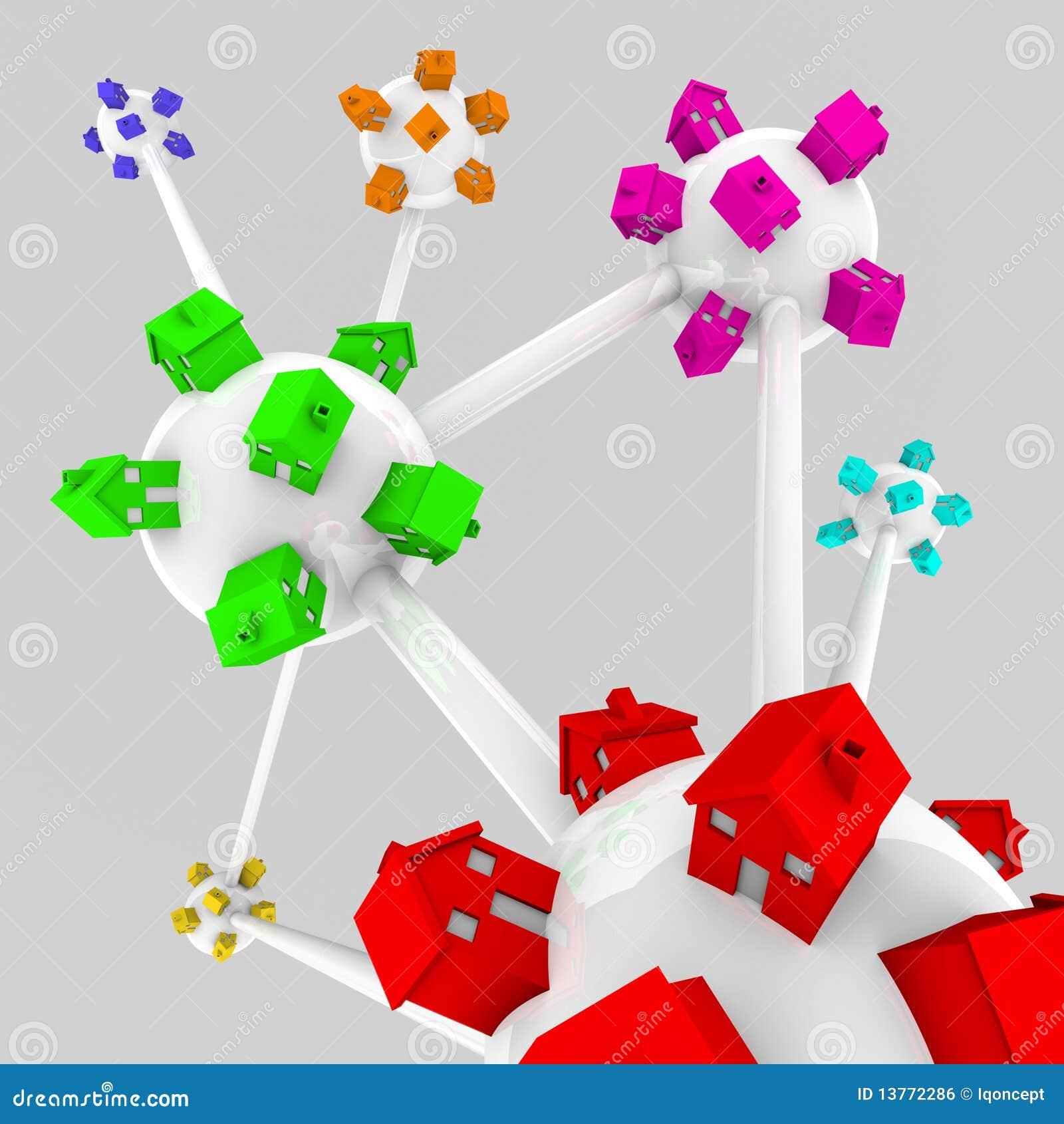 Maisons connectées dans les voisinages