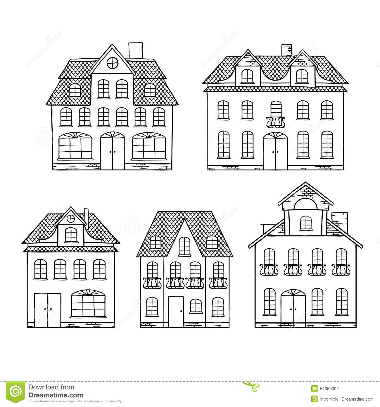 Maisons de dessin d 39 expert d 39 isolement illustration de for Easy to draw mansion
