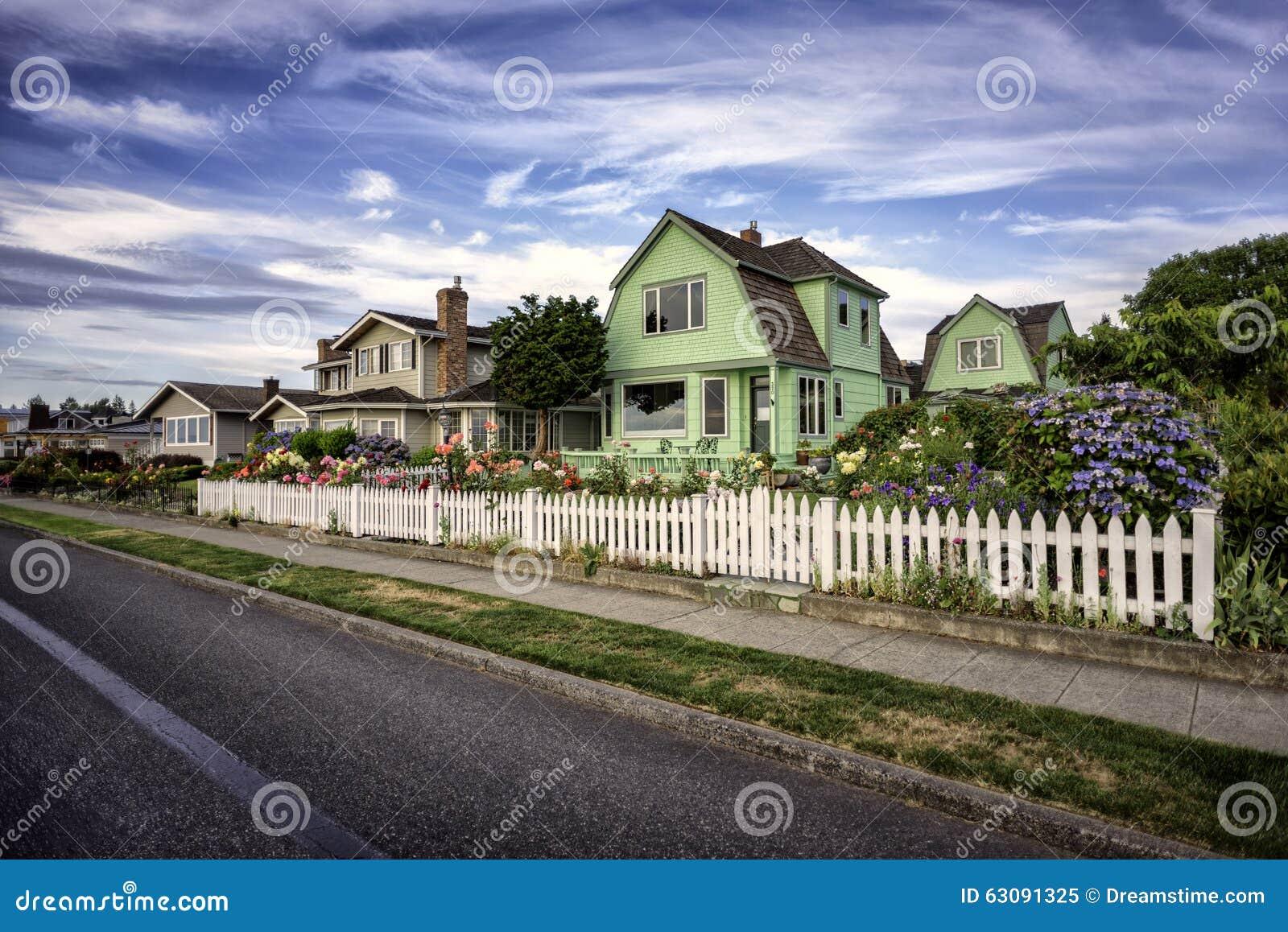 Download Maisons de plage image stock. Image du frais, gentil - 63091325