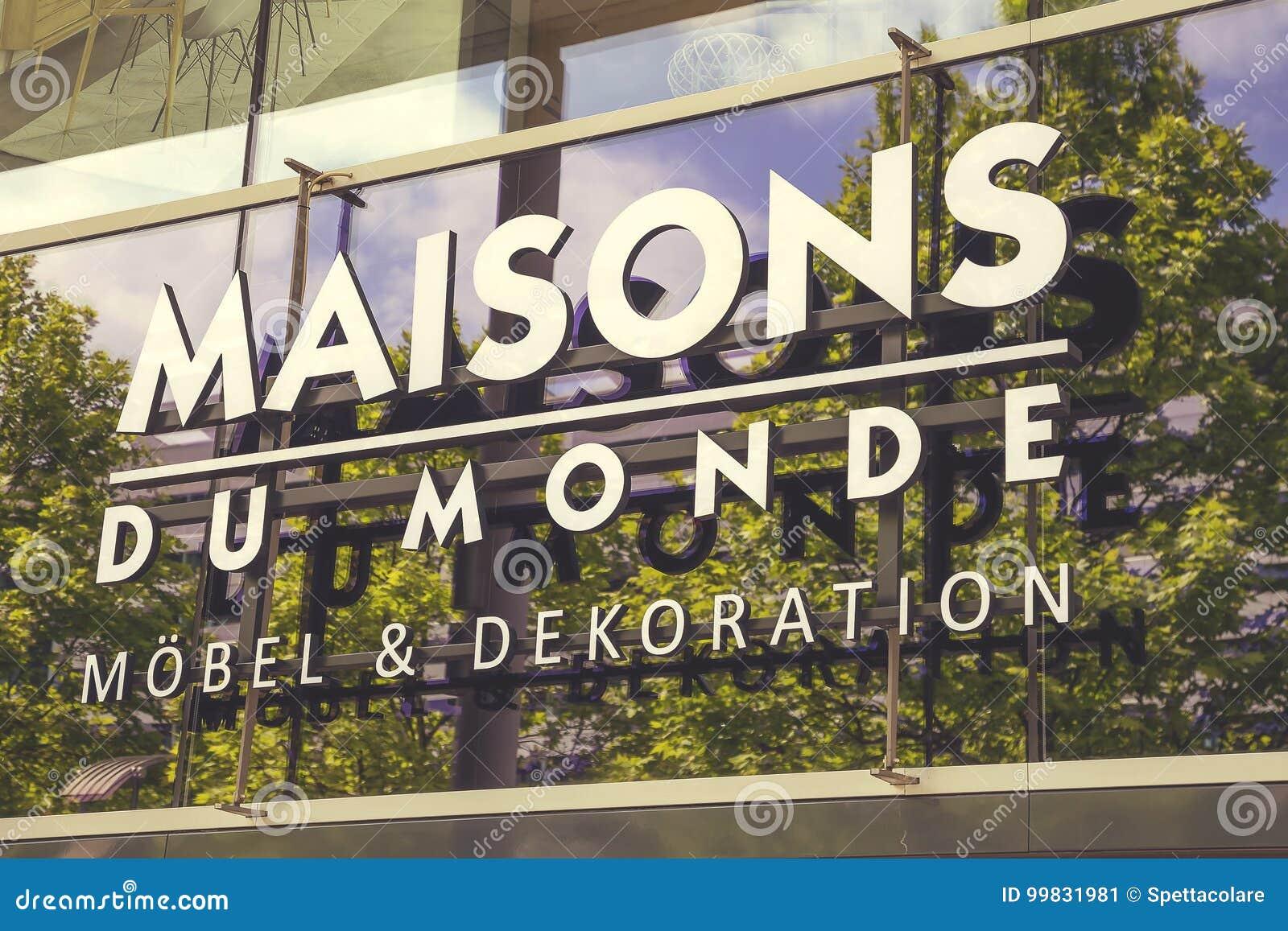 Maisons Du Monde Store Logo Sign Editorial Photo - Image of icon