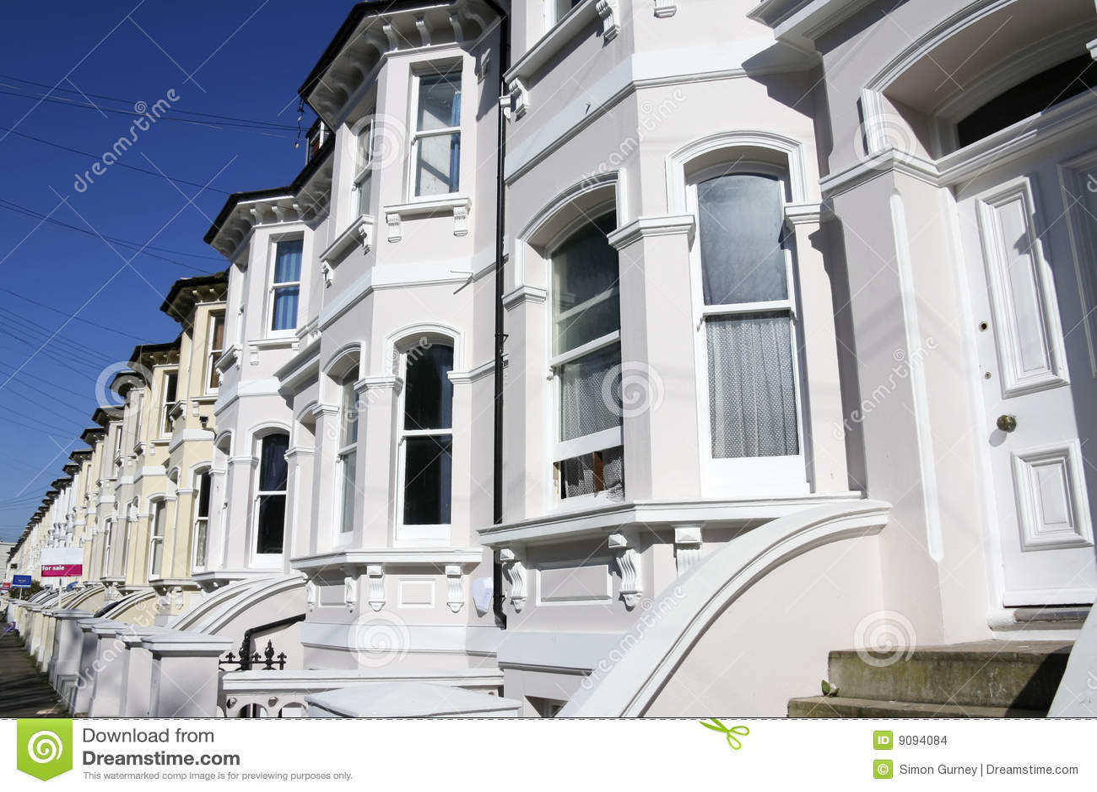 Maisons géorgiennes de Brighton en terrasse