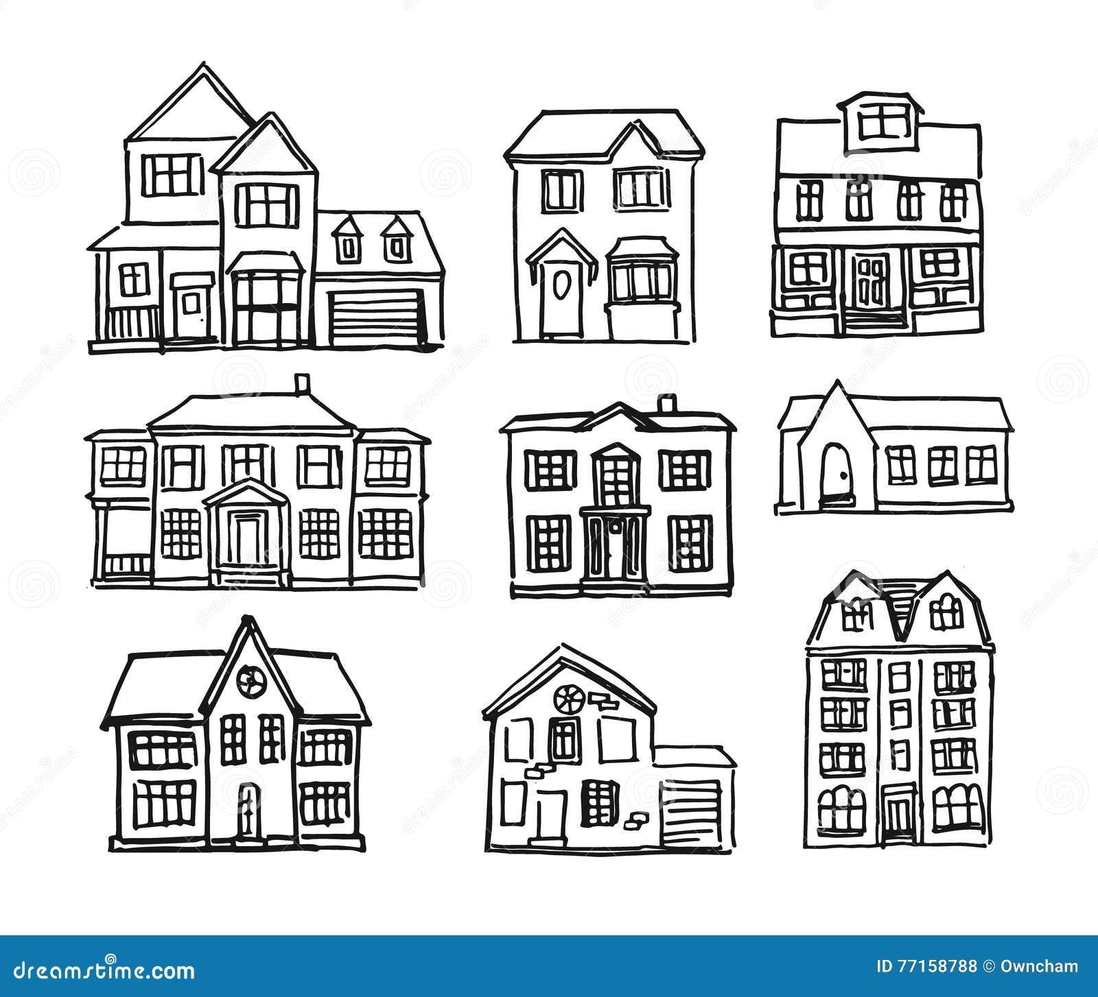 Maisons tirées par la main
