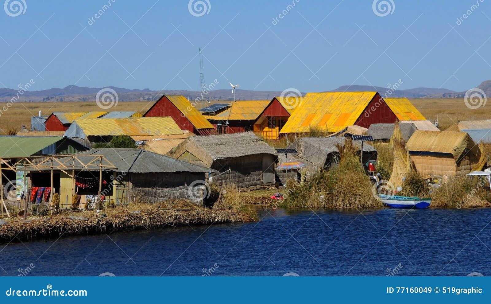 Maisons traditionnelles, Puno, Pérou
