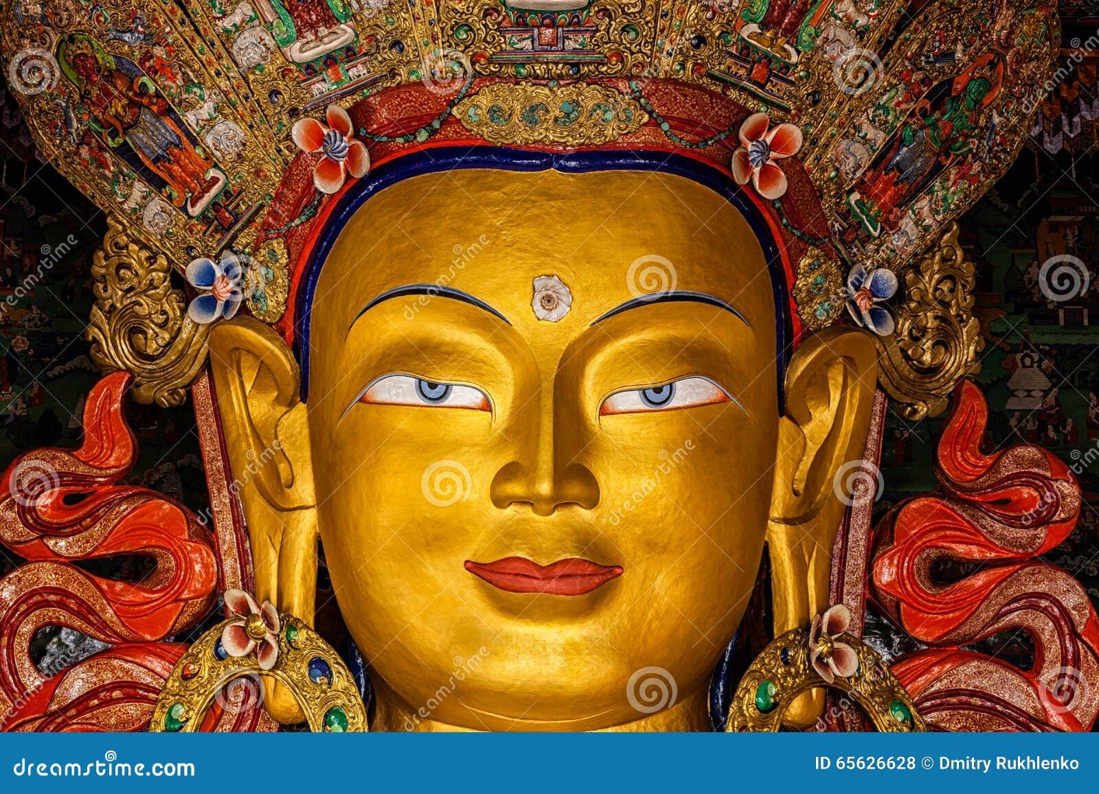 Maitreya Boedha in Thiksey Gompa