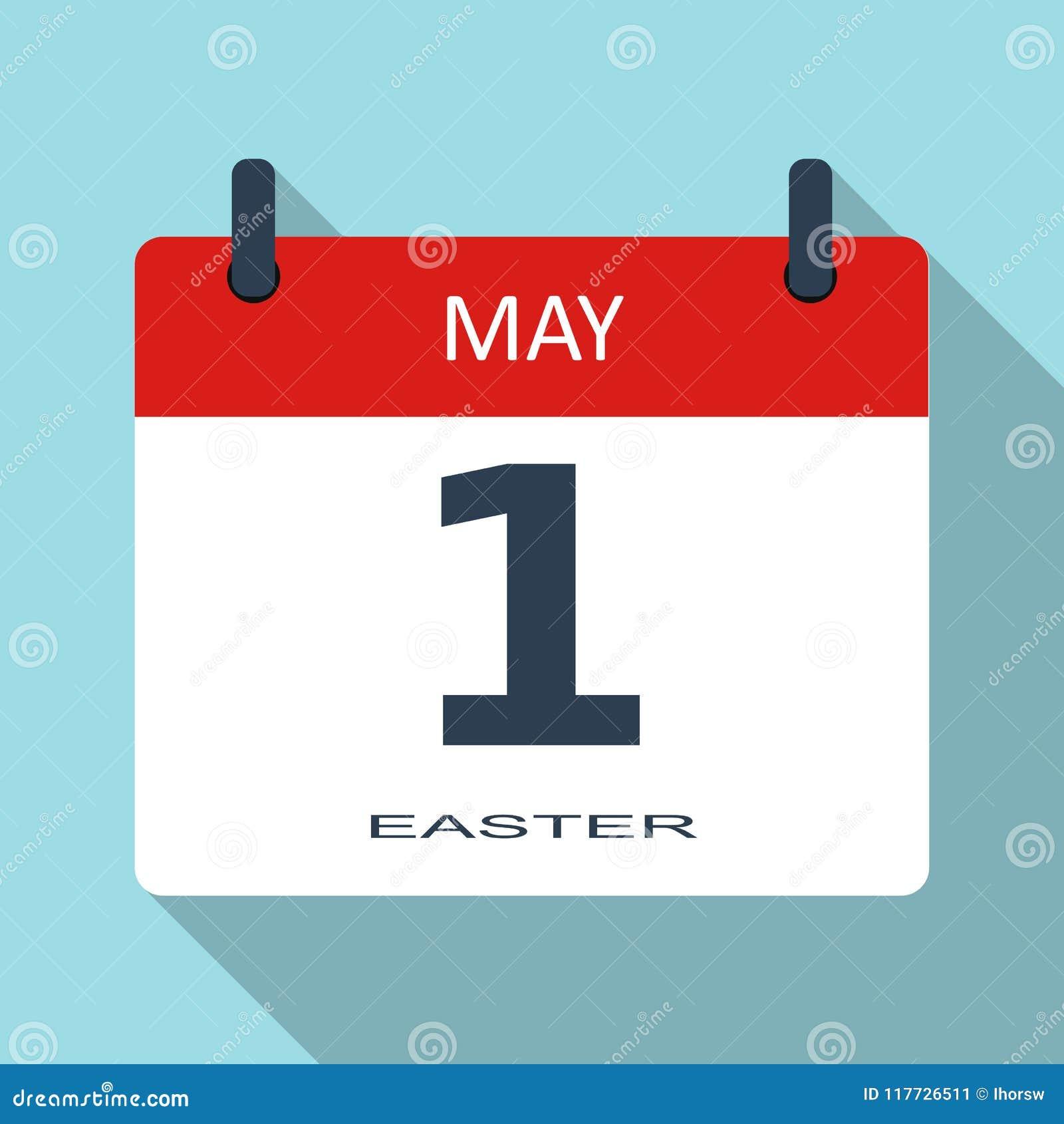 1 MAJ Arbetardag Symbol för daglig kalender för vektor plan Datum och tid, månad ferie Modern enkel si