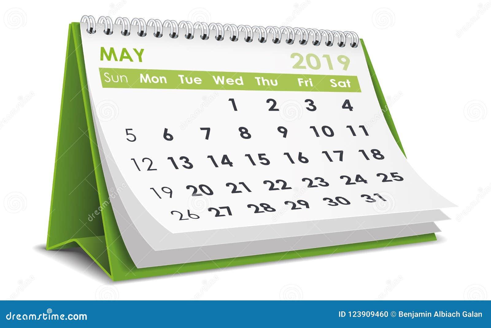 Maj 2019 kalender