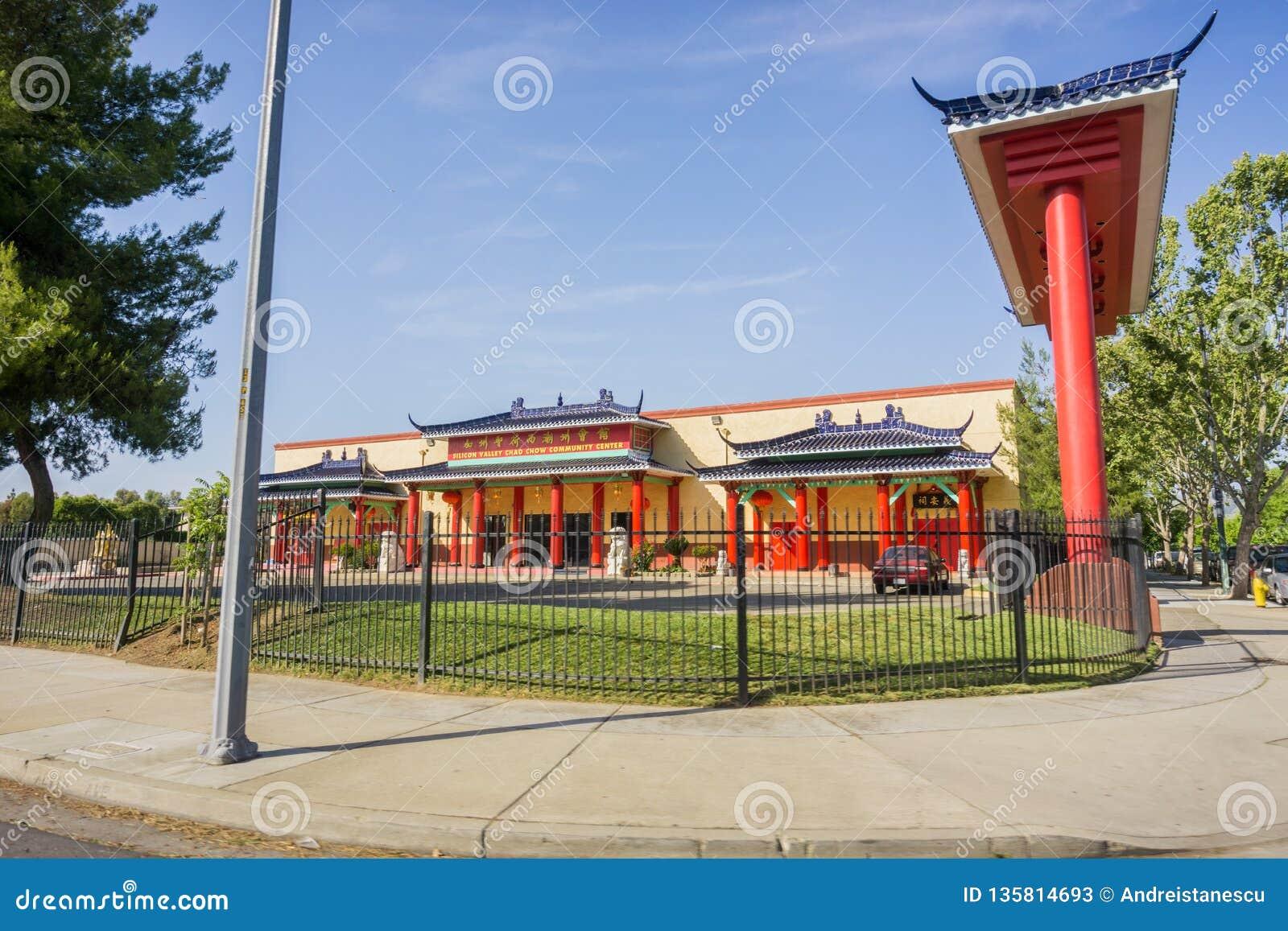 Maj 7, 2017 San Jose/CA/USA - Krzemowa Dolina Chao Chow dom kultury