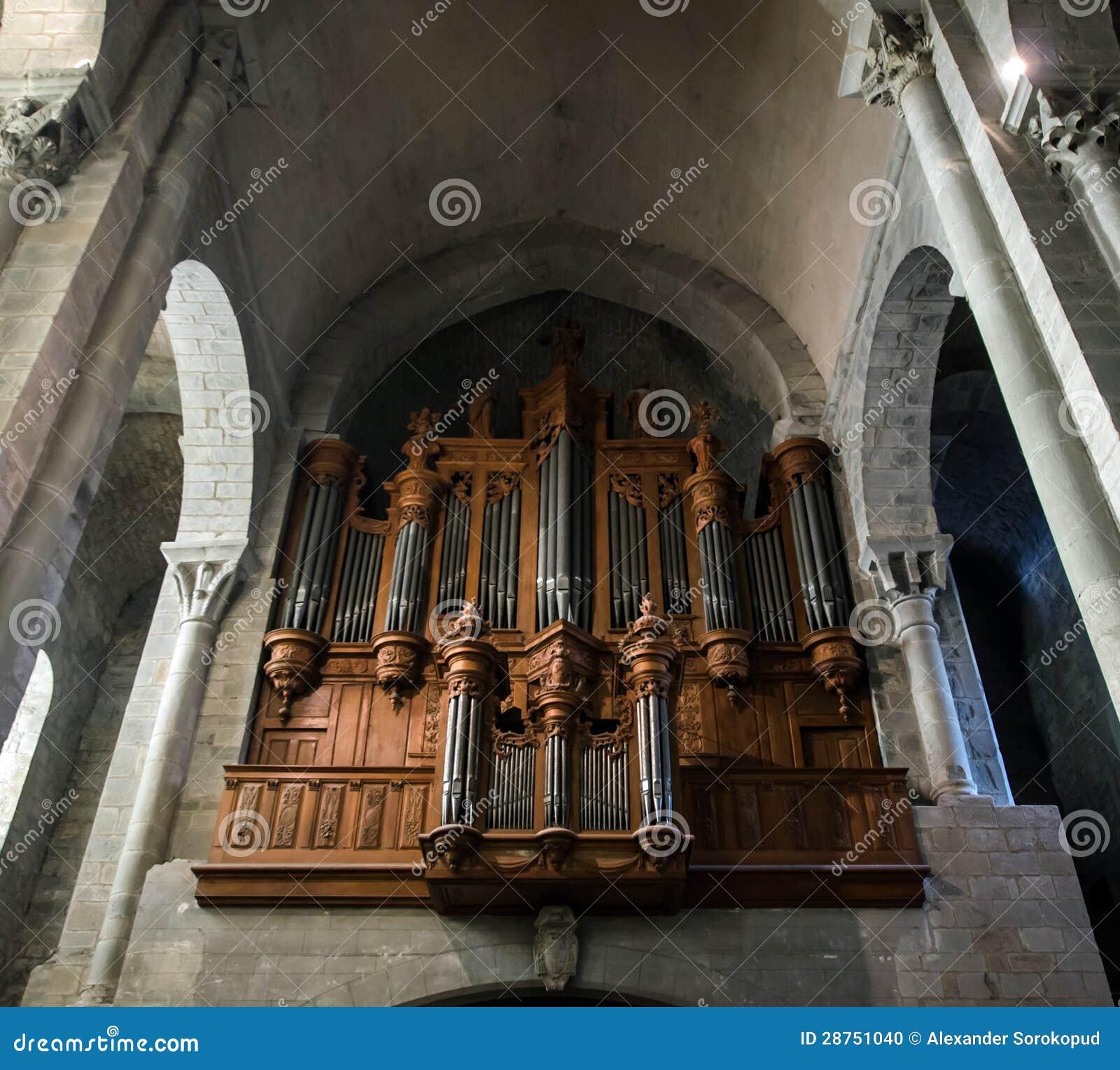 Majestic Carcassone Cathedral Interiors. Sun Light. Stock ...