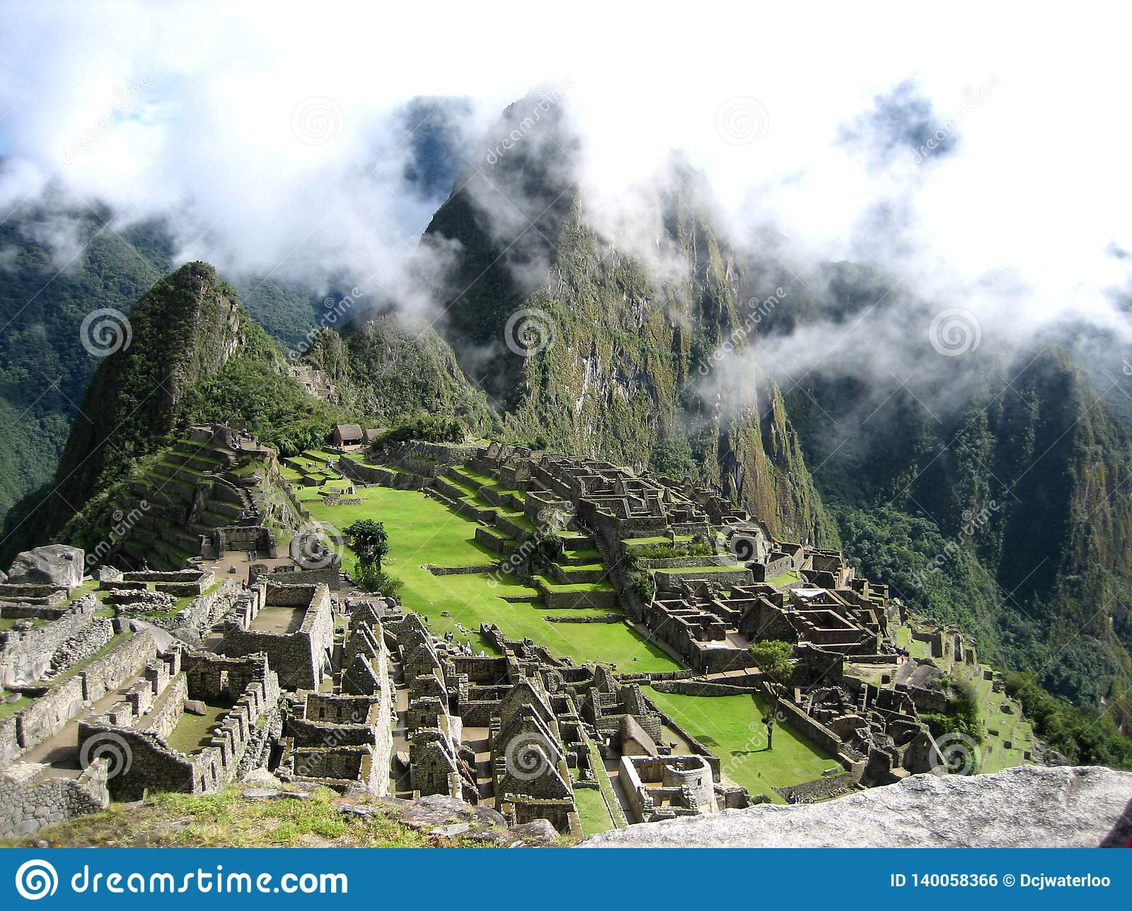 Machu Picchu from the south.
