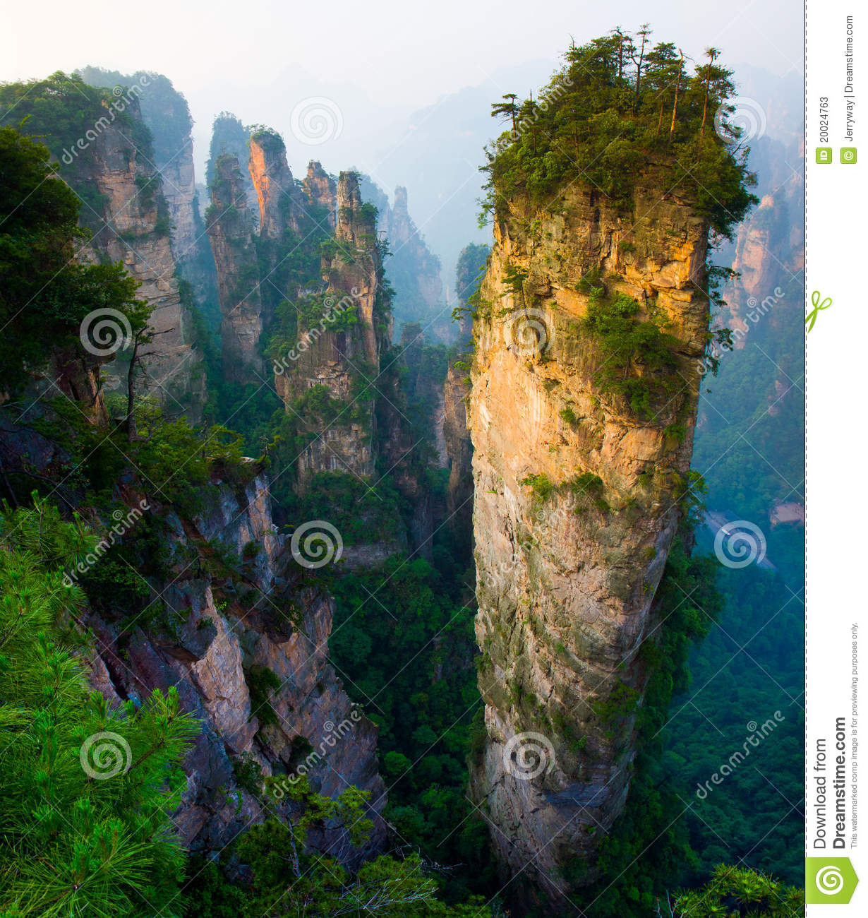 Majestic Landscape Zhangjiajie China Stock Photos Image
