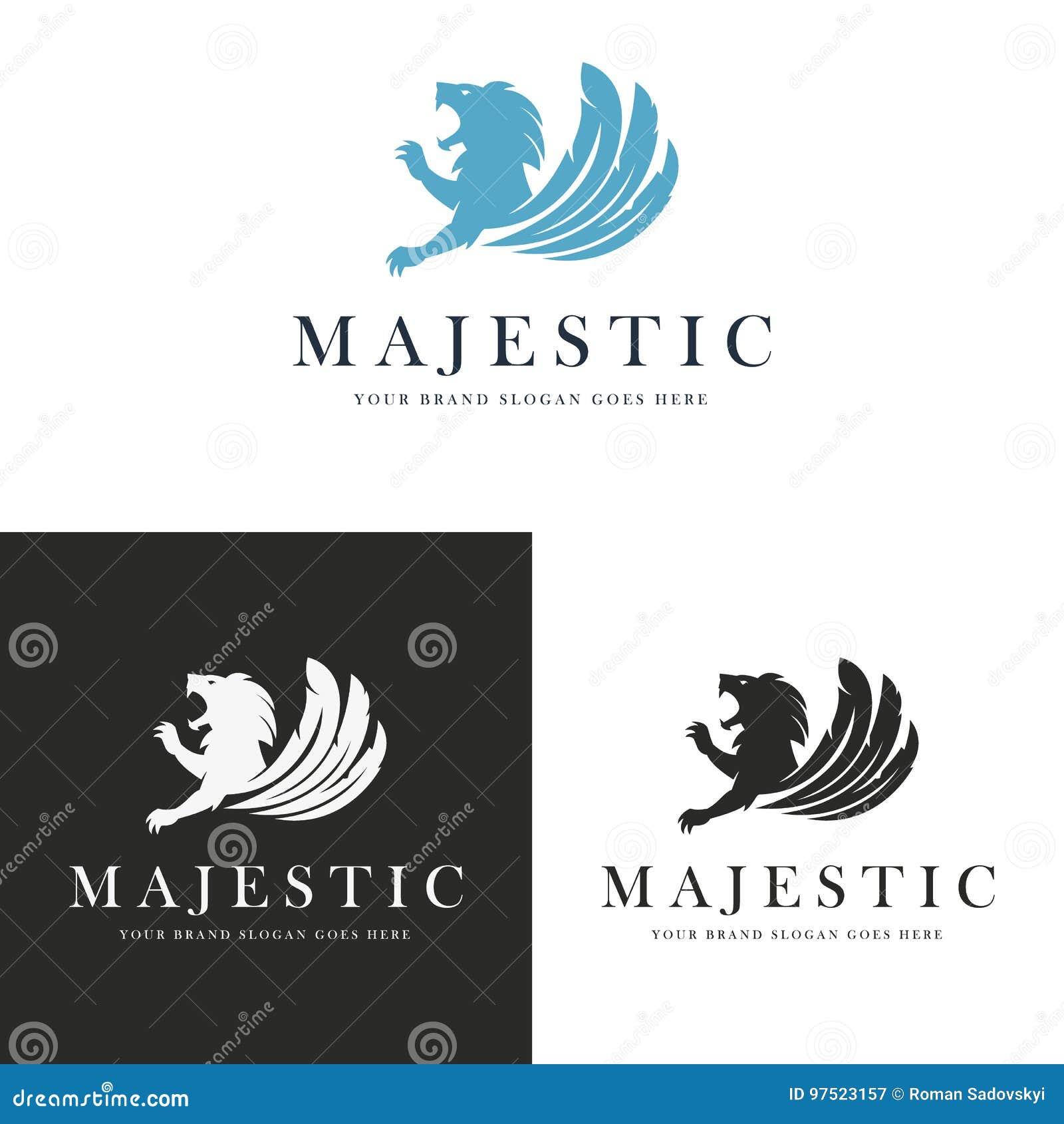 Majestic Lion Logo Stock Vector. Illustration Of Brand