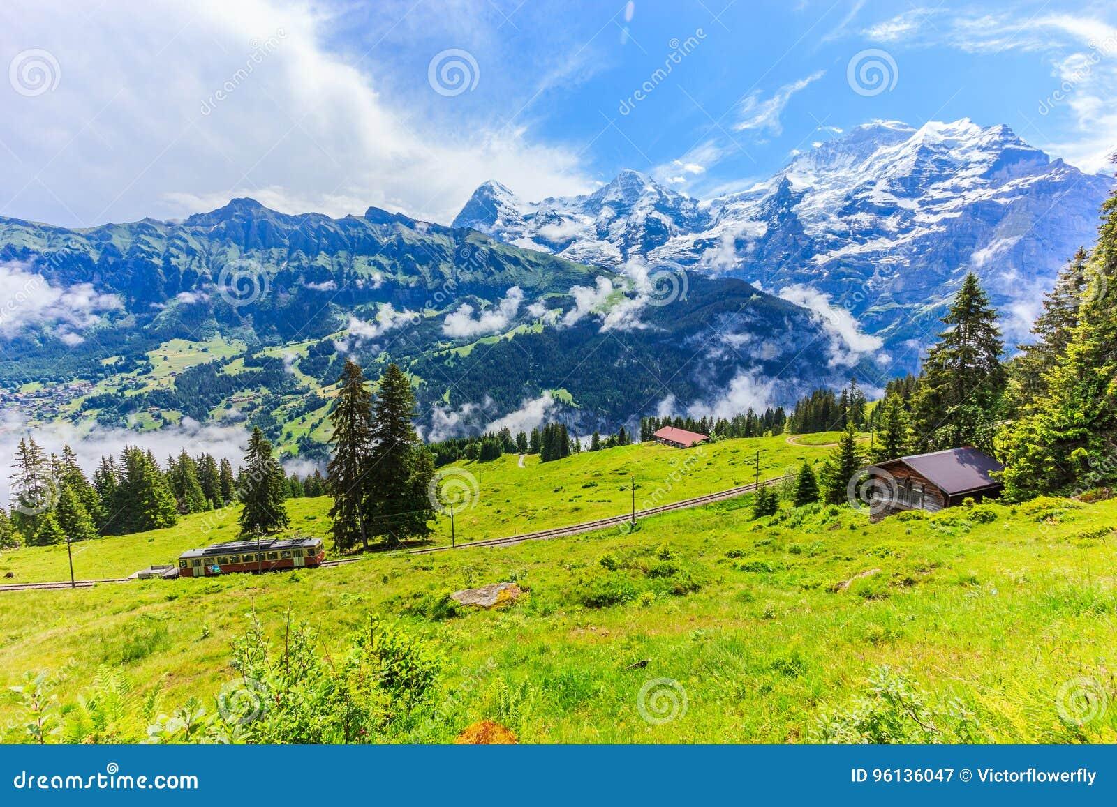 Eiger, Monch & Jungfrau Bernese Alps Switzerland Royalty ... Bernese Alps, Switzerland