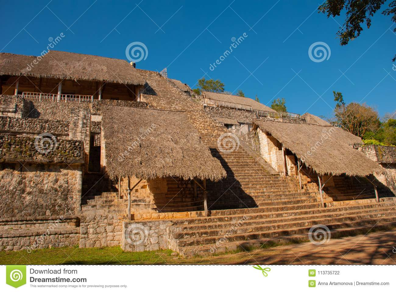 Majestic ruins in Ek Balam. Ek Balam is a Yucatec Maya archaeological site within the municipality of Temozon, Yucatan, Mexico.