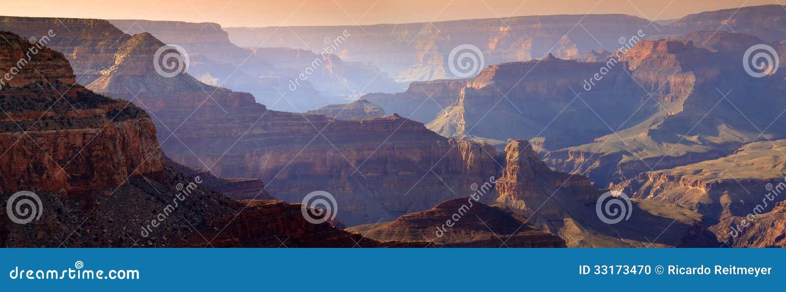 Majestueus Zonsondergangzuiden Rim Grand Canyon National Park Arizona