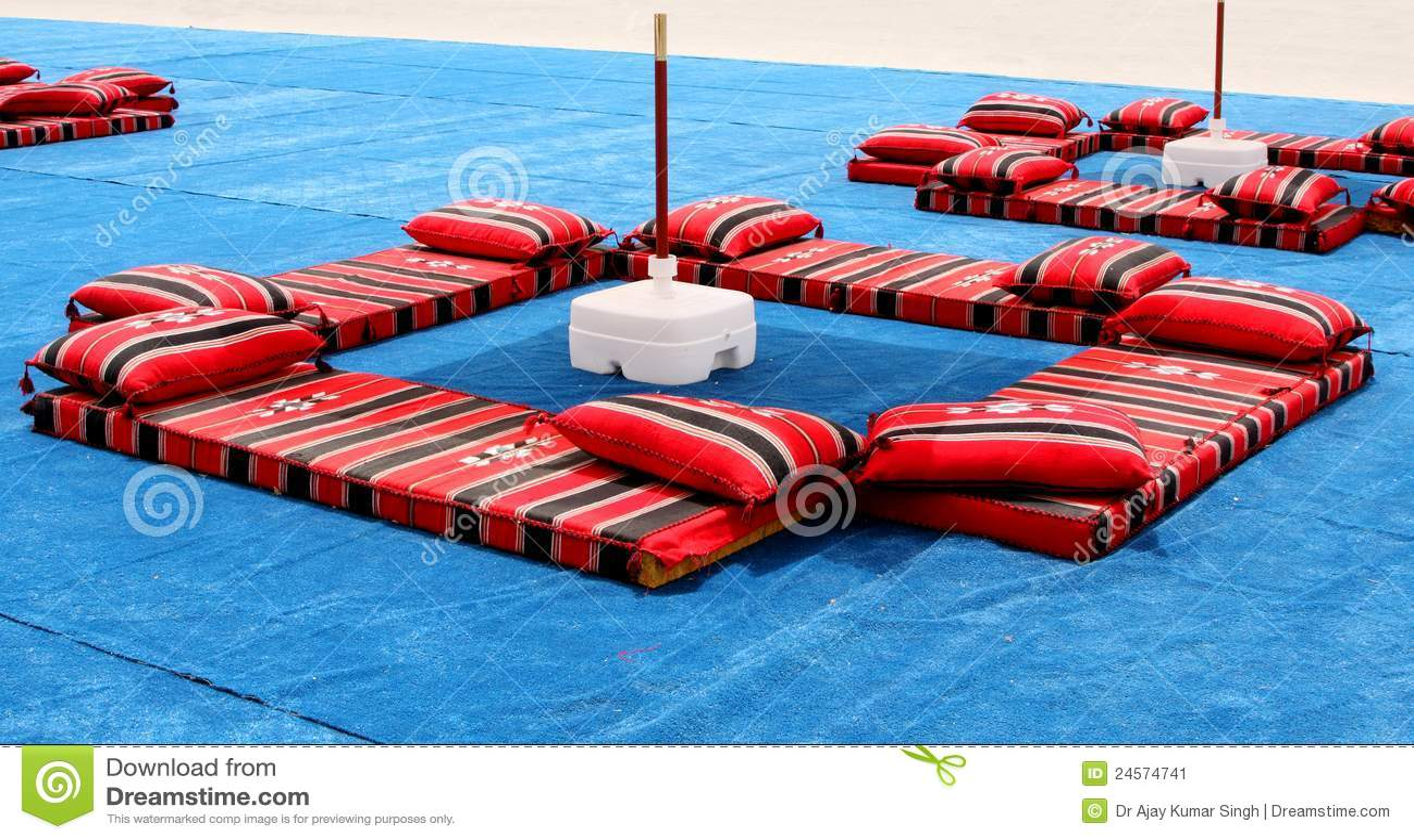 Majlis, Traditional Colourful Arabian Seating Stock Image - Image: 24574741
