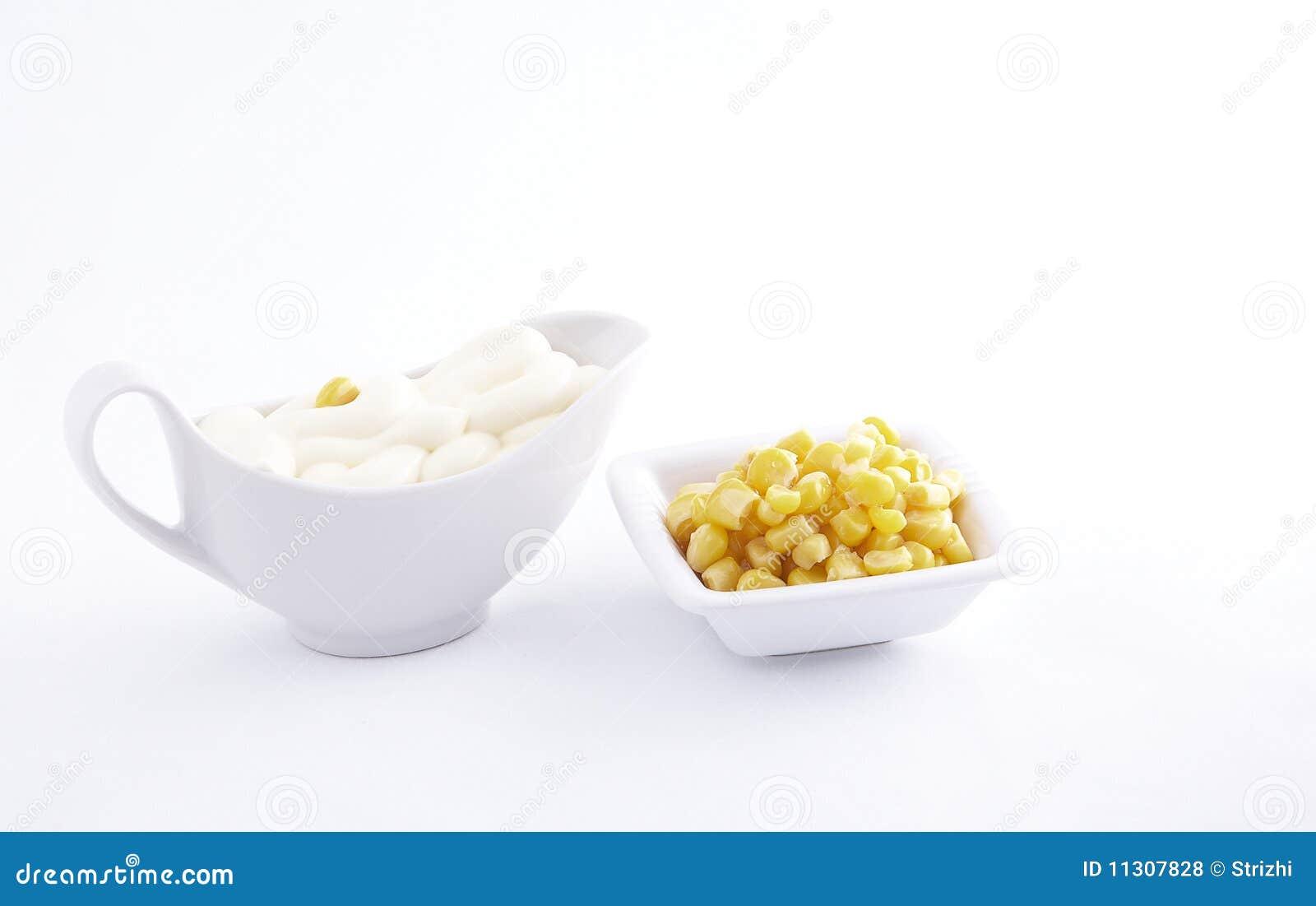 Majonäse und Mais