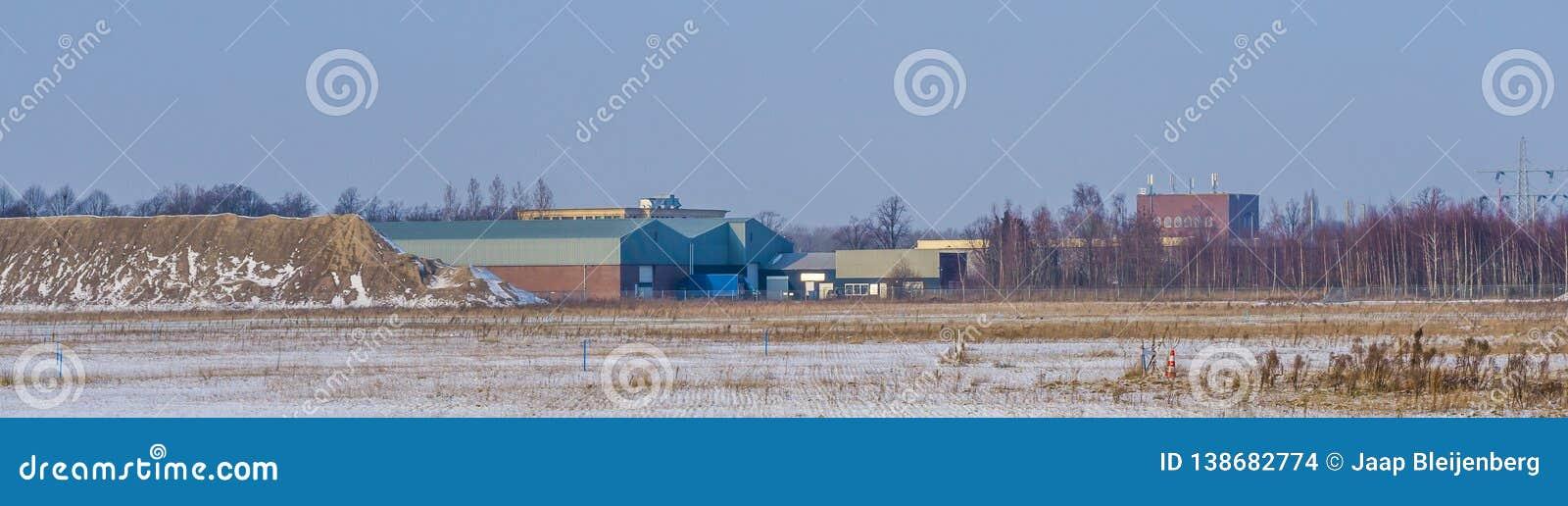 Majoppeveld przemysłu teren Roosendaal holandie, Holenderski przemysłowy krajobraz