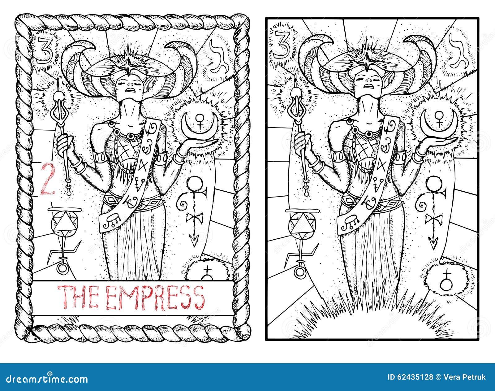 Download The Major Arcana Tarot Card. The Empress Stock Vector - Illustration of card, divination: 62435128
