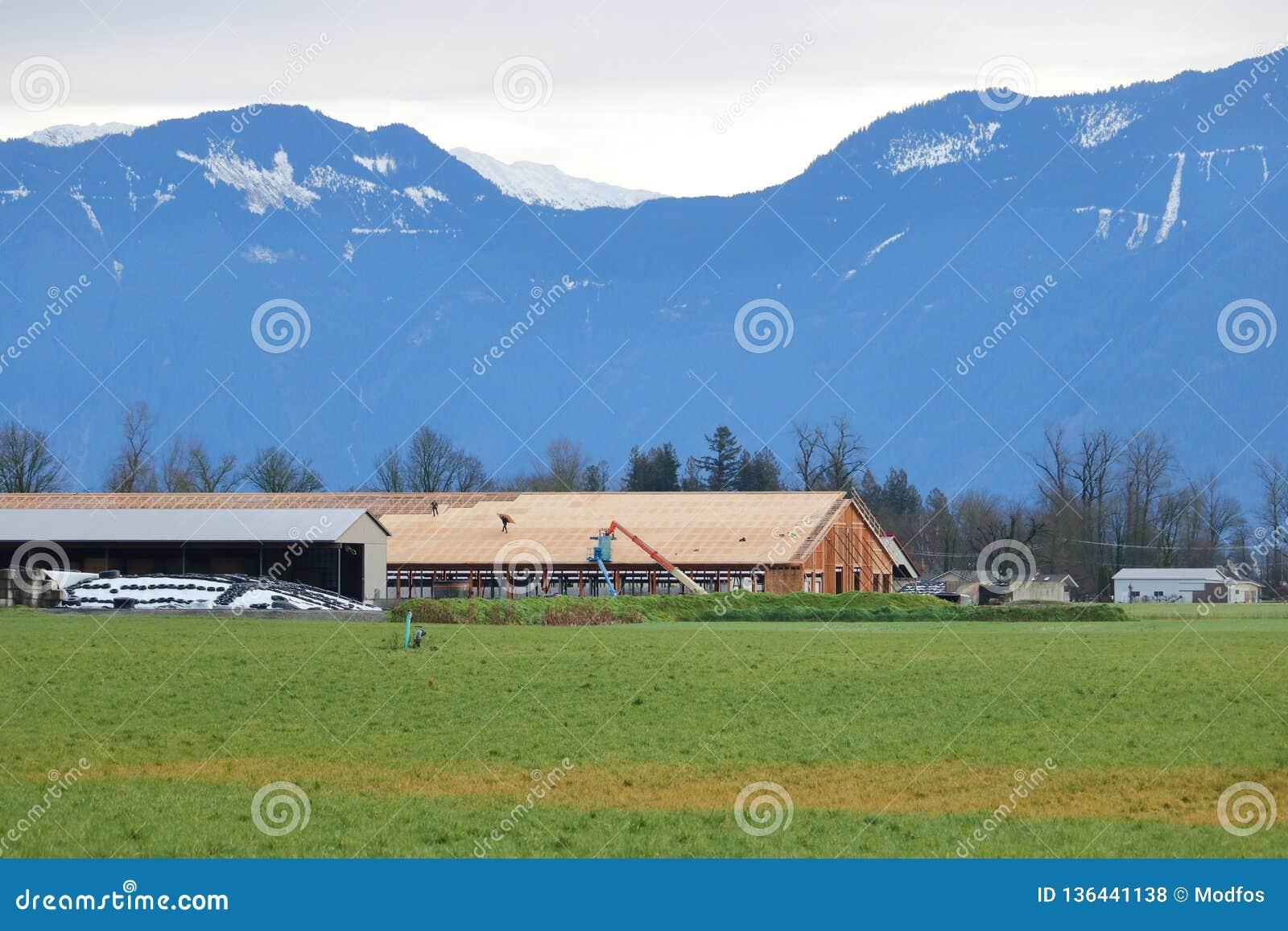 Major Farm Building Construction in Valley
