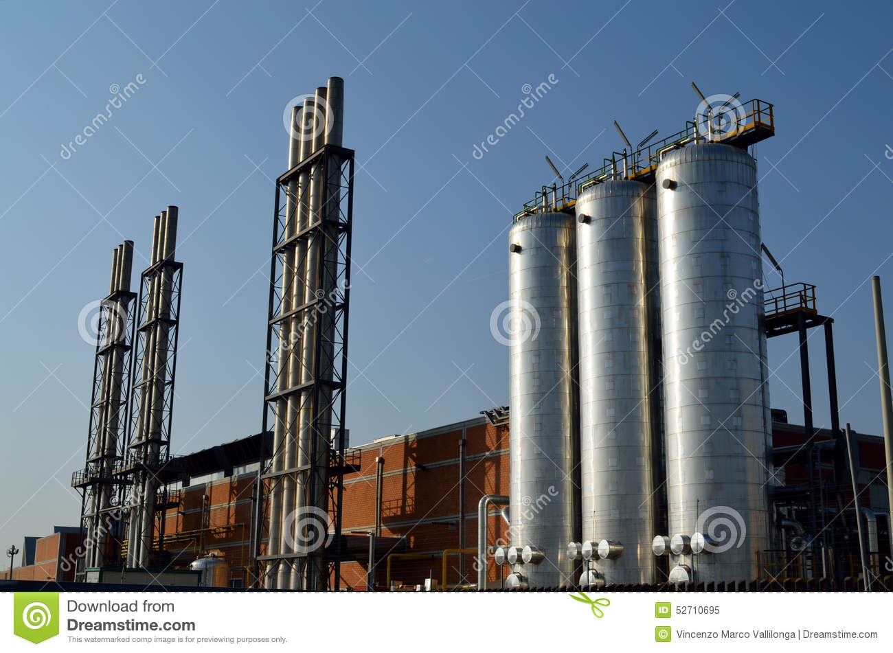 Major industries and global pollution stock photo image for Portant industriel