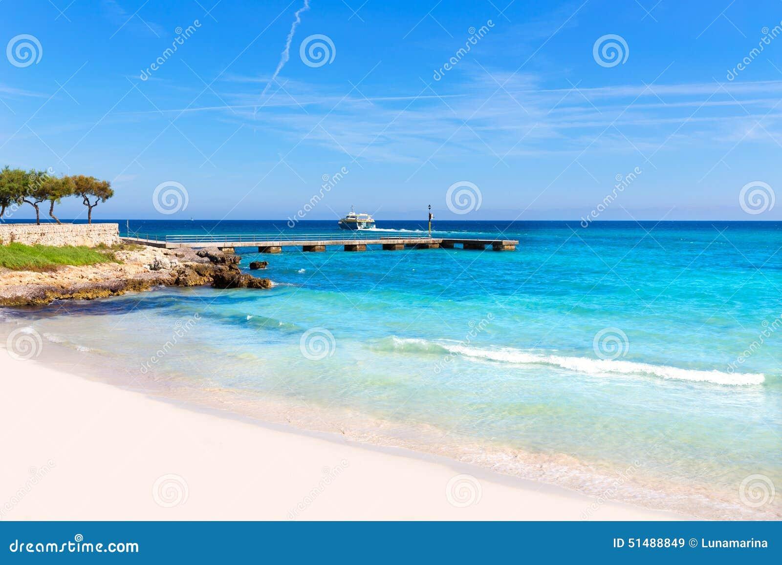 majorca cala millor beach son servera mallorca stock photo image 51488849. Black Bedroom Furniture Sets. Home Design Ideas