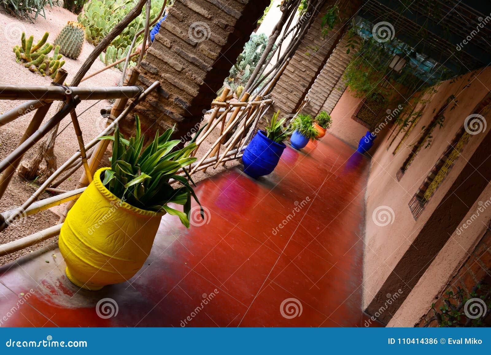 Majorelle tuiniert kleurrijk binnenland