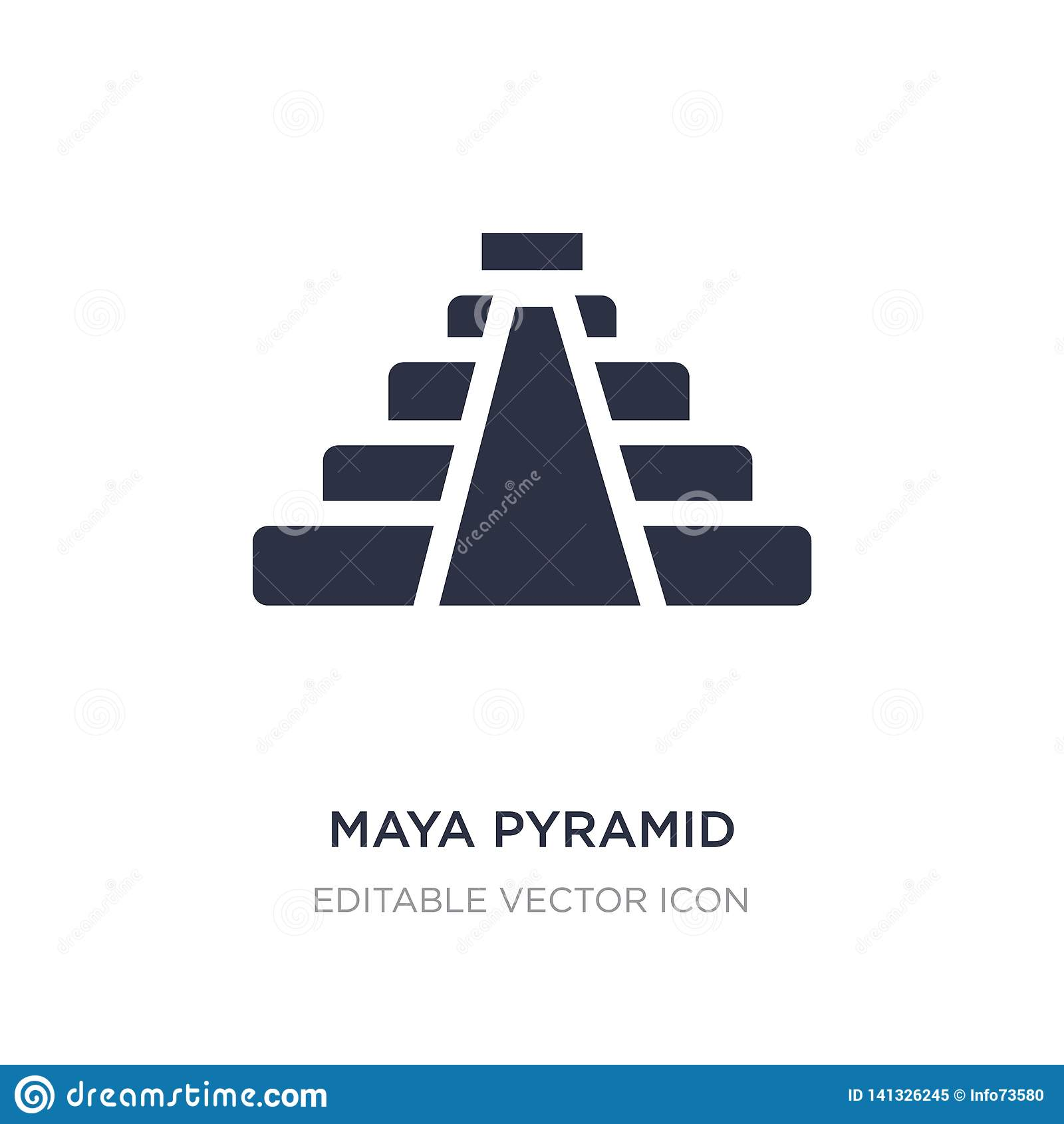 Majowie ostrosłupa ikona na białym tle Prosta element ilustracja od zabytku pojęcia