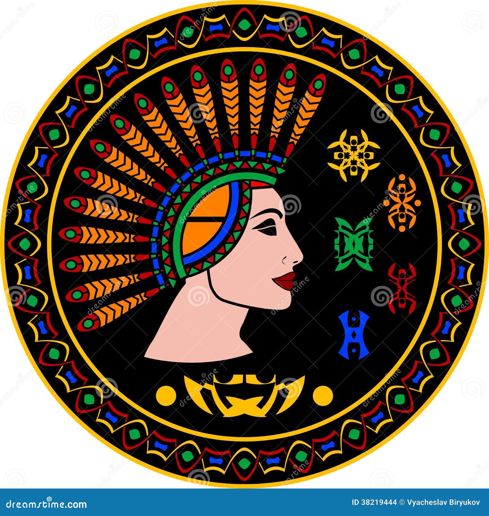 Majska kobieta i hieroglify
