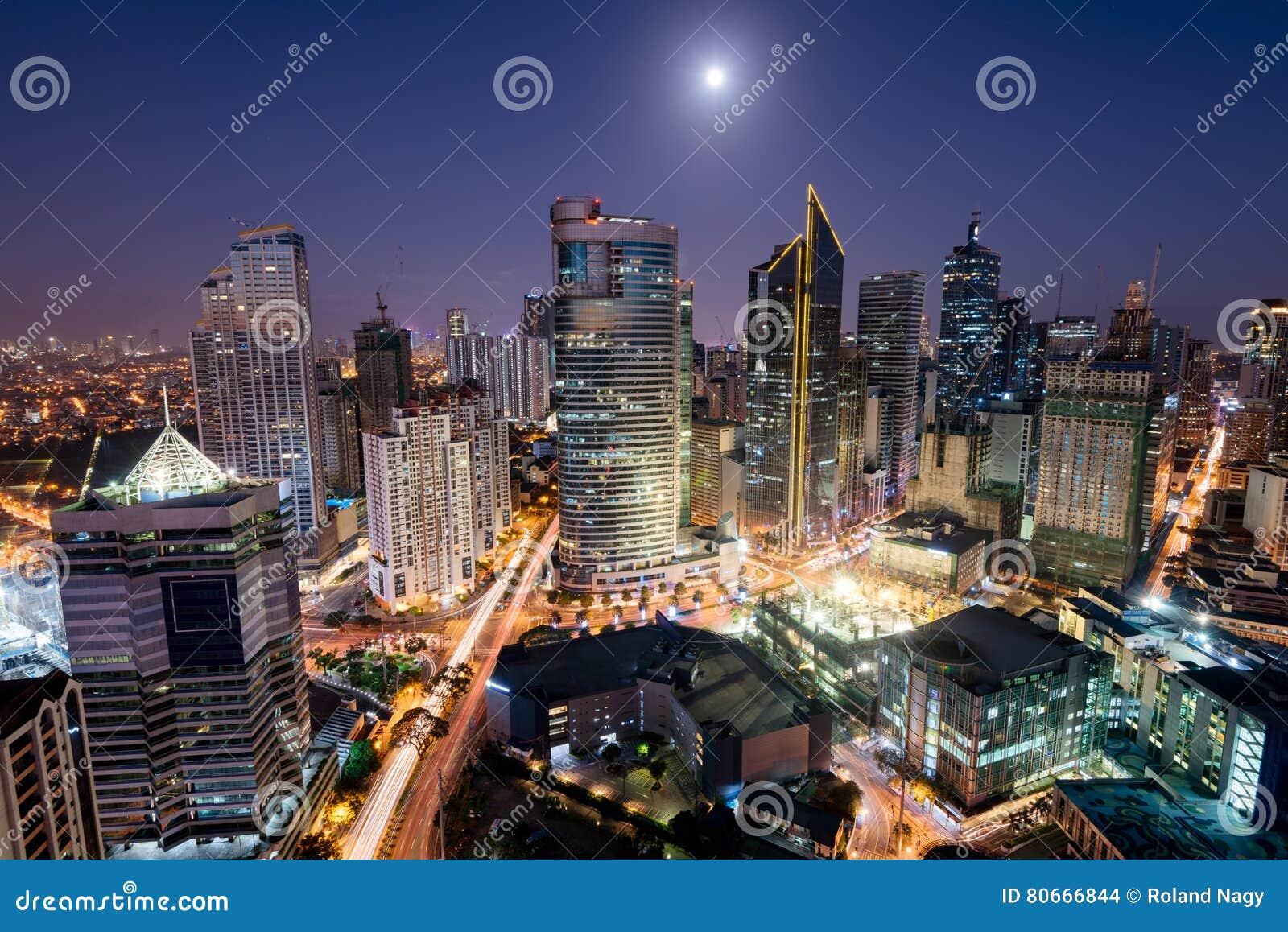 Makati-Skyline, Manila, Philippinen